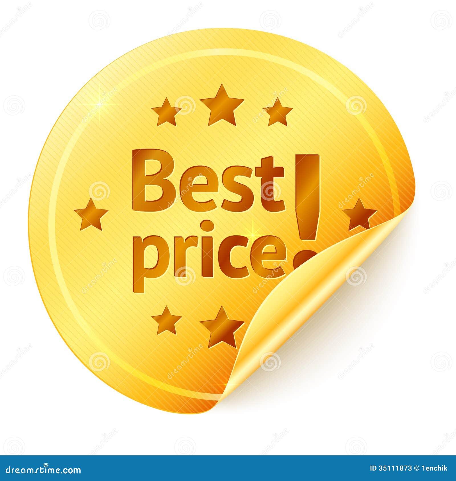 Best Price Isolated Golden Vector Sticker Stock Photos