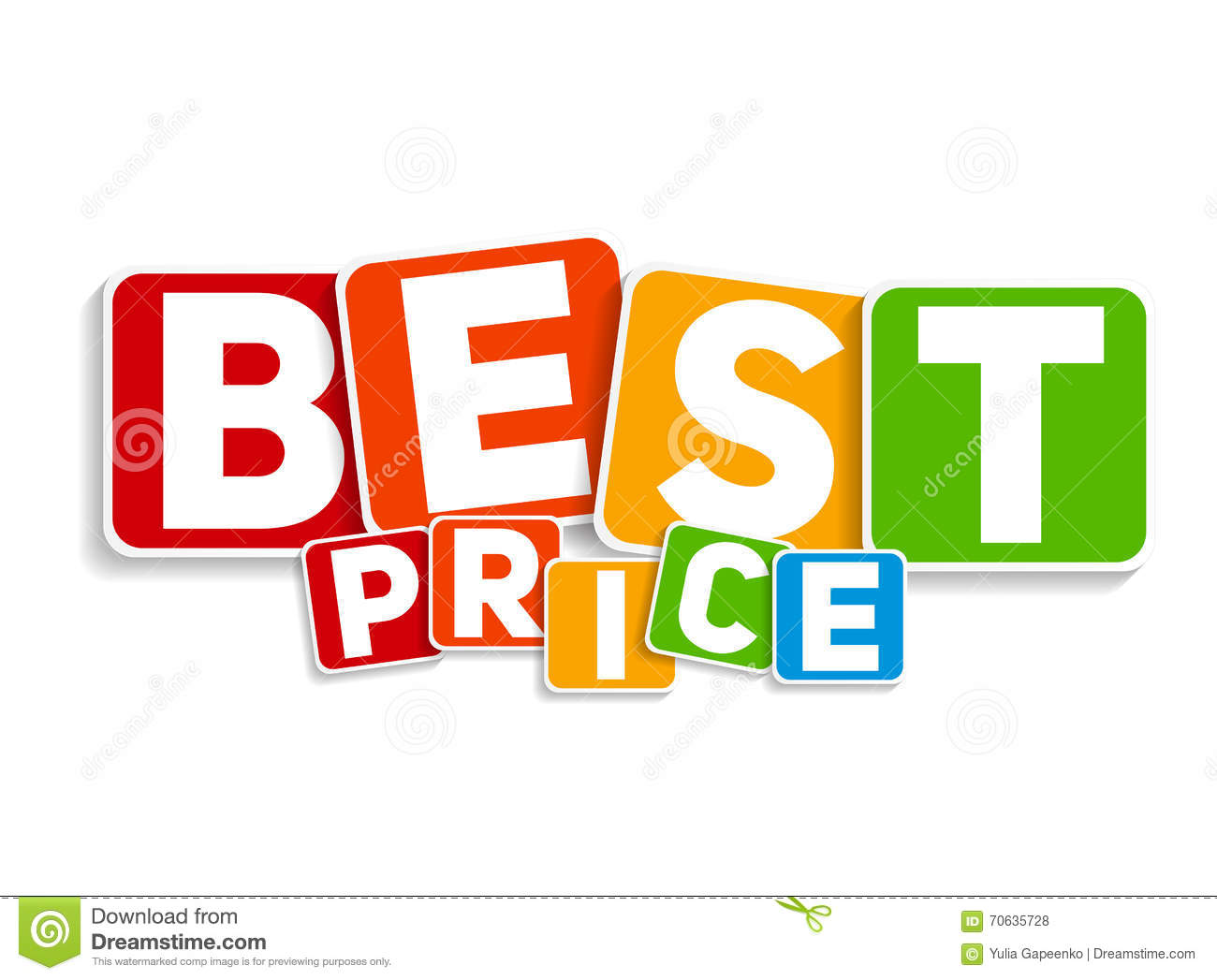 best price sign template vector illustration stock vector