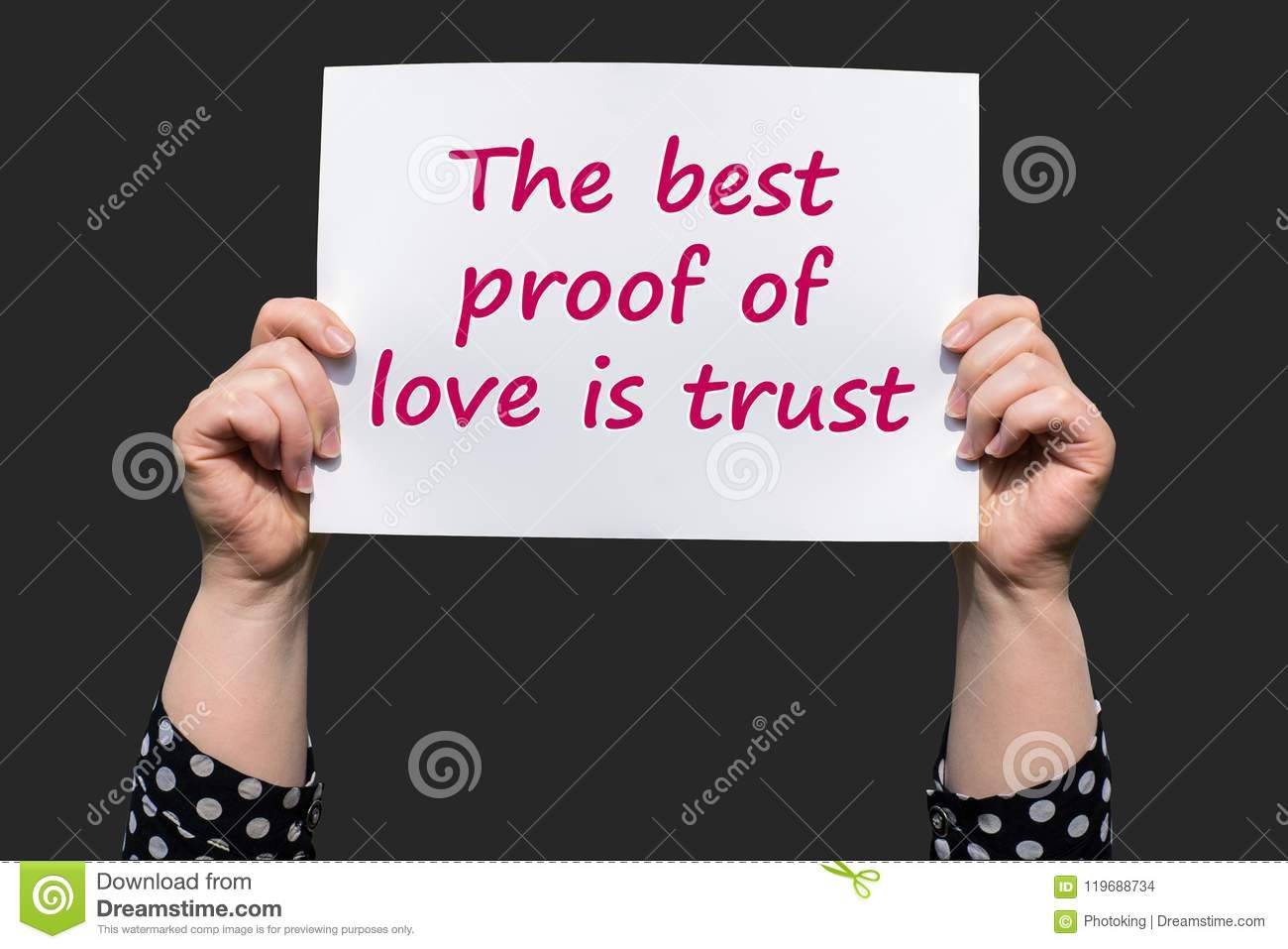 The Best Proof Of Love Is Trust Stock Photo Image Of Character