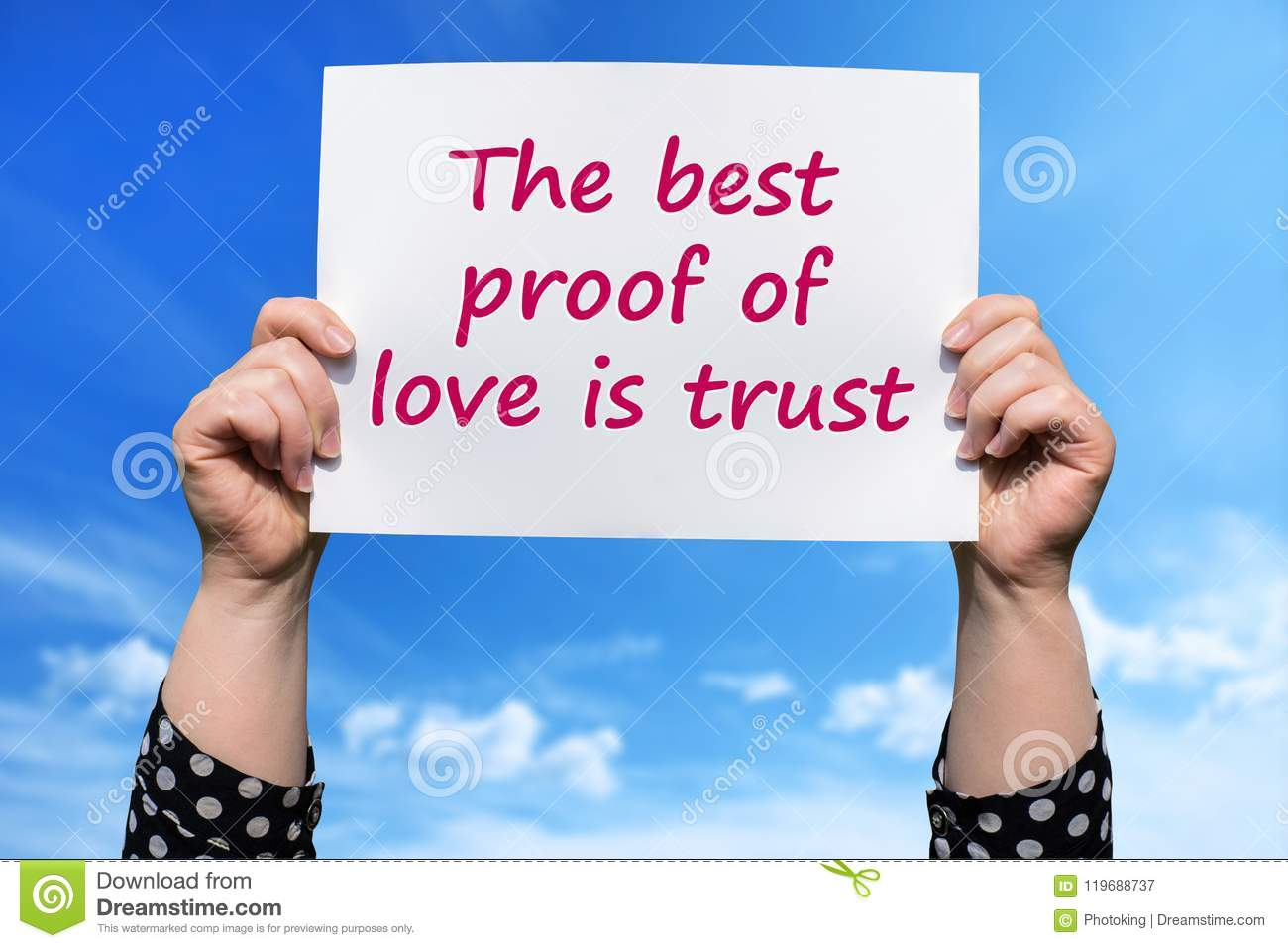 The Best Proof Of Love Is Trust Stock Image Image Of Character