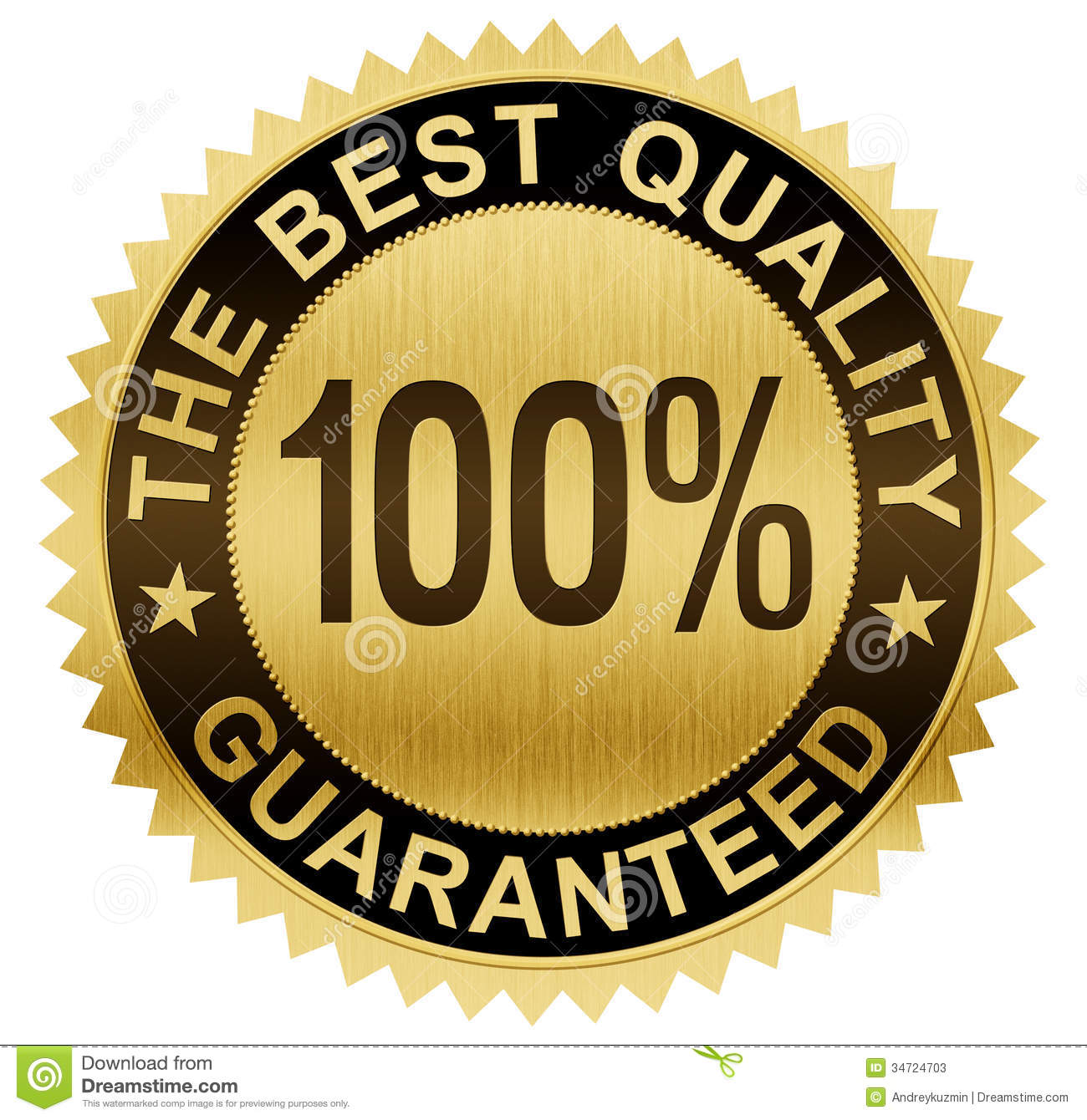 Best Quality Guaranteed Gold Seal Medal With Clipping Path