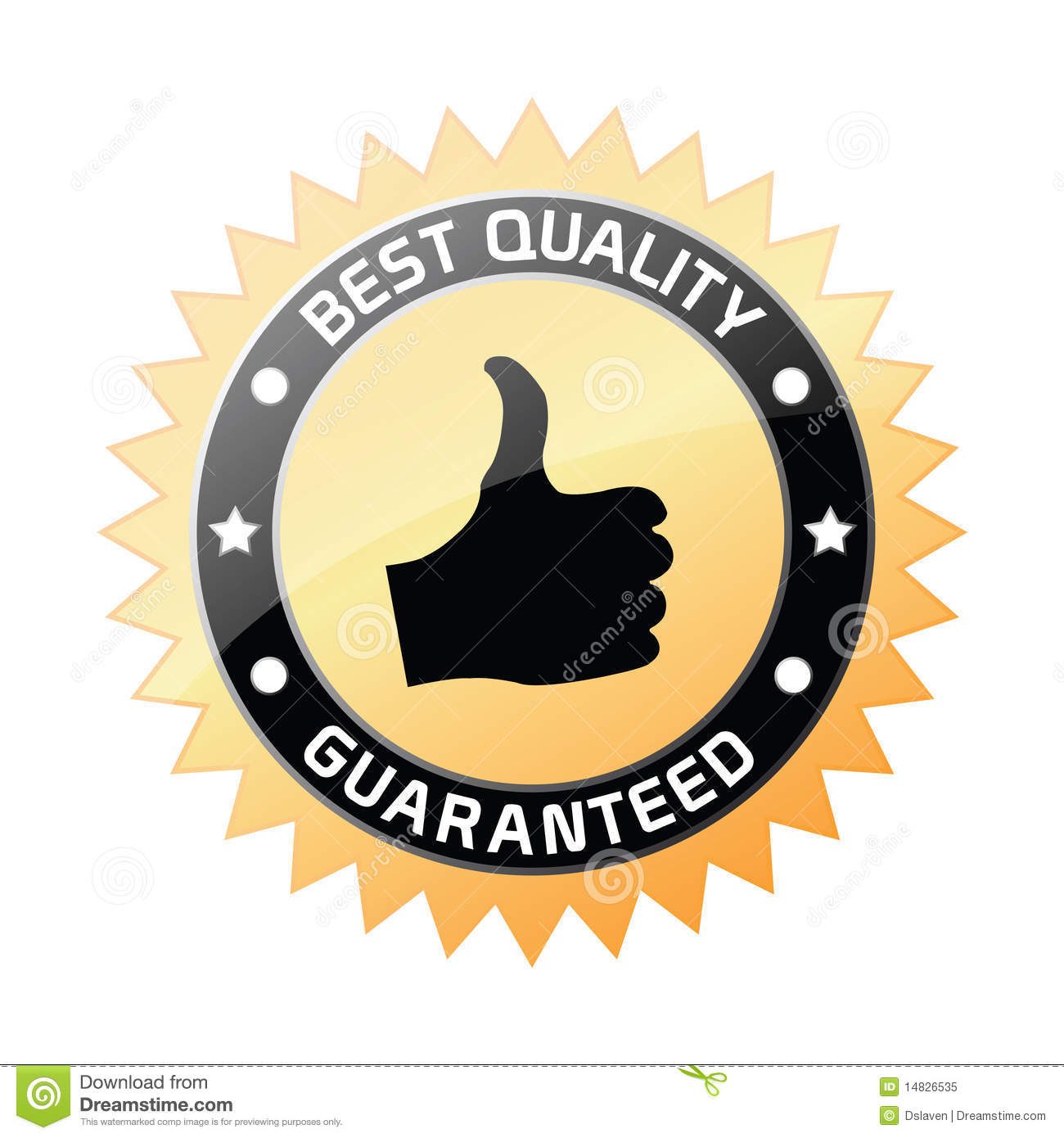 Best Quality Guaranteed Label Stock Vector