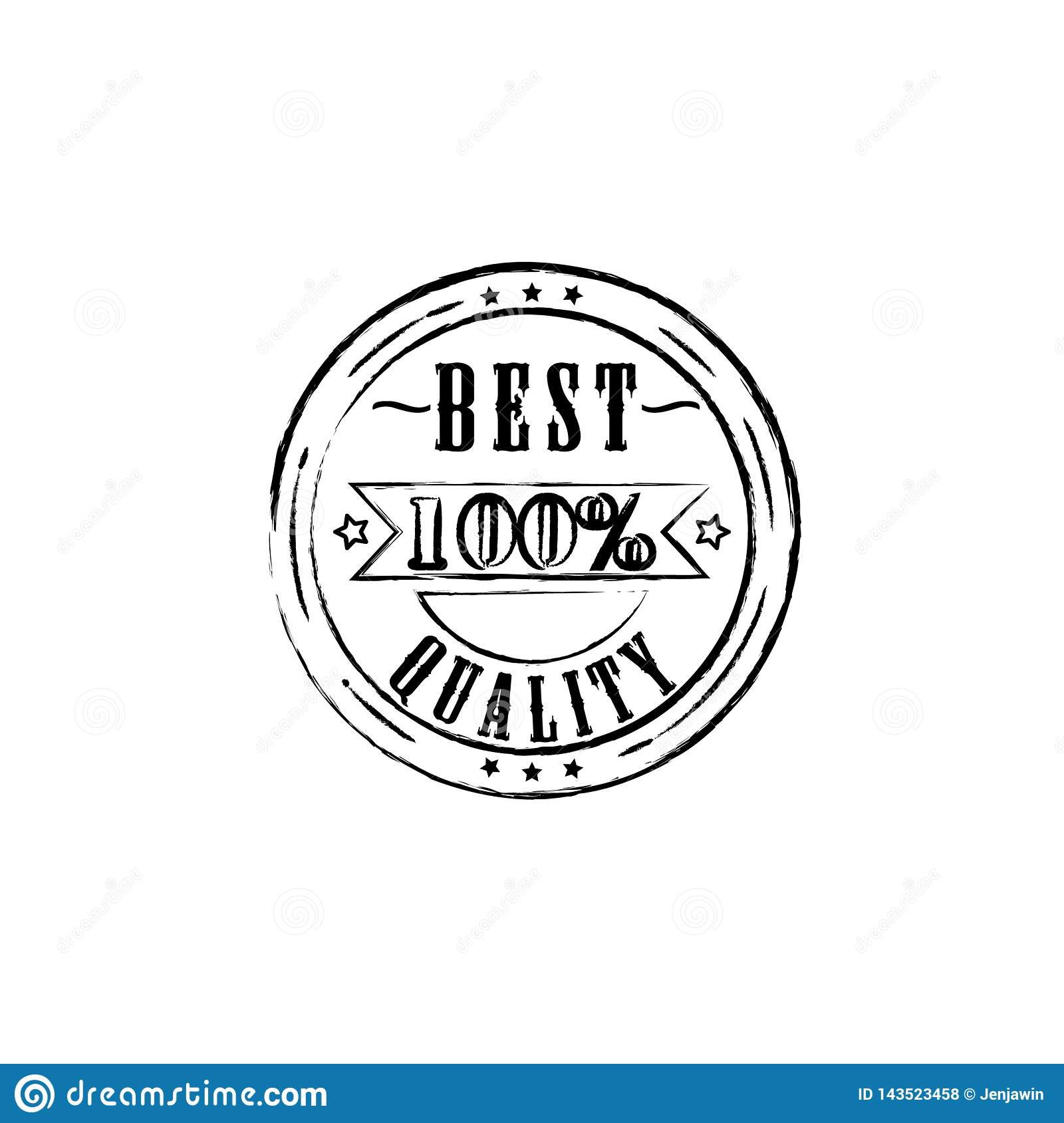 Best quality 100 percent badge outline vector eps10. Best quality stamp sign