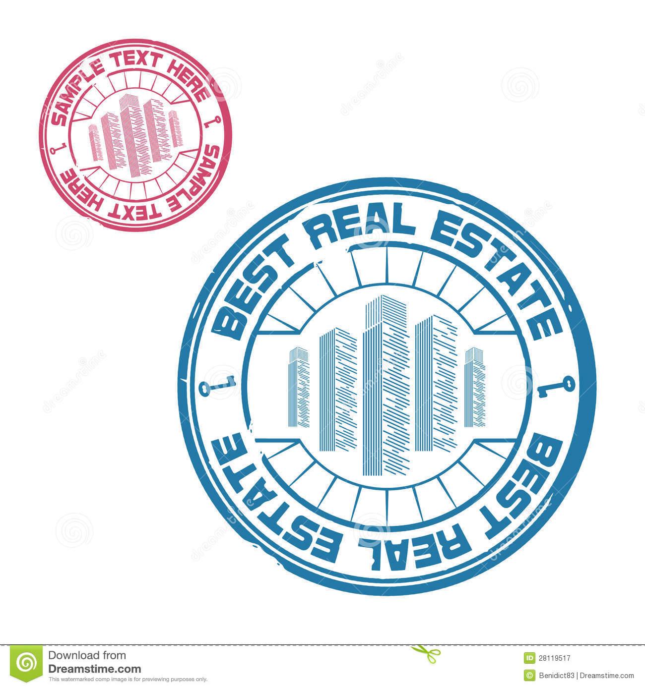Best Real Estate Stamp Stock Vector. Image Of Certified