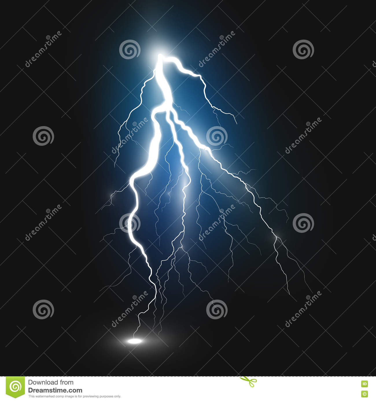 Best Realistic Lightning Sign Stock Vector