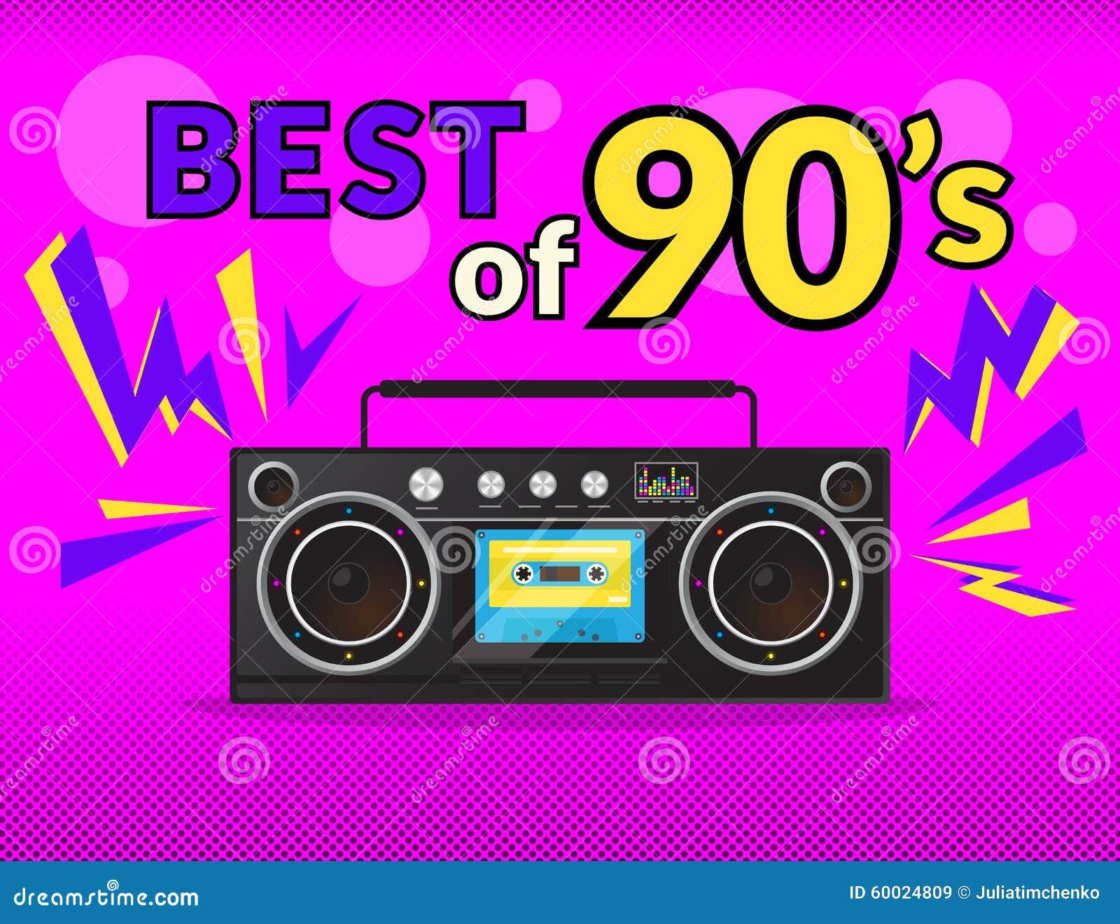 Best Of 90s Stock Vector. Illustration Of Dance