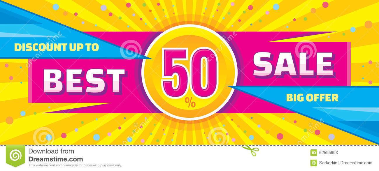 Best Sale Vector Banner. Discount Up To 50% Vector Banner ...