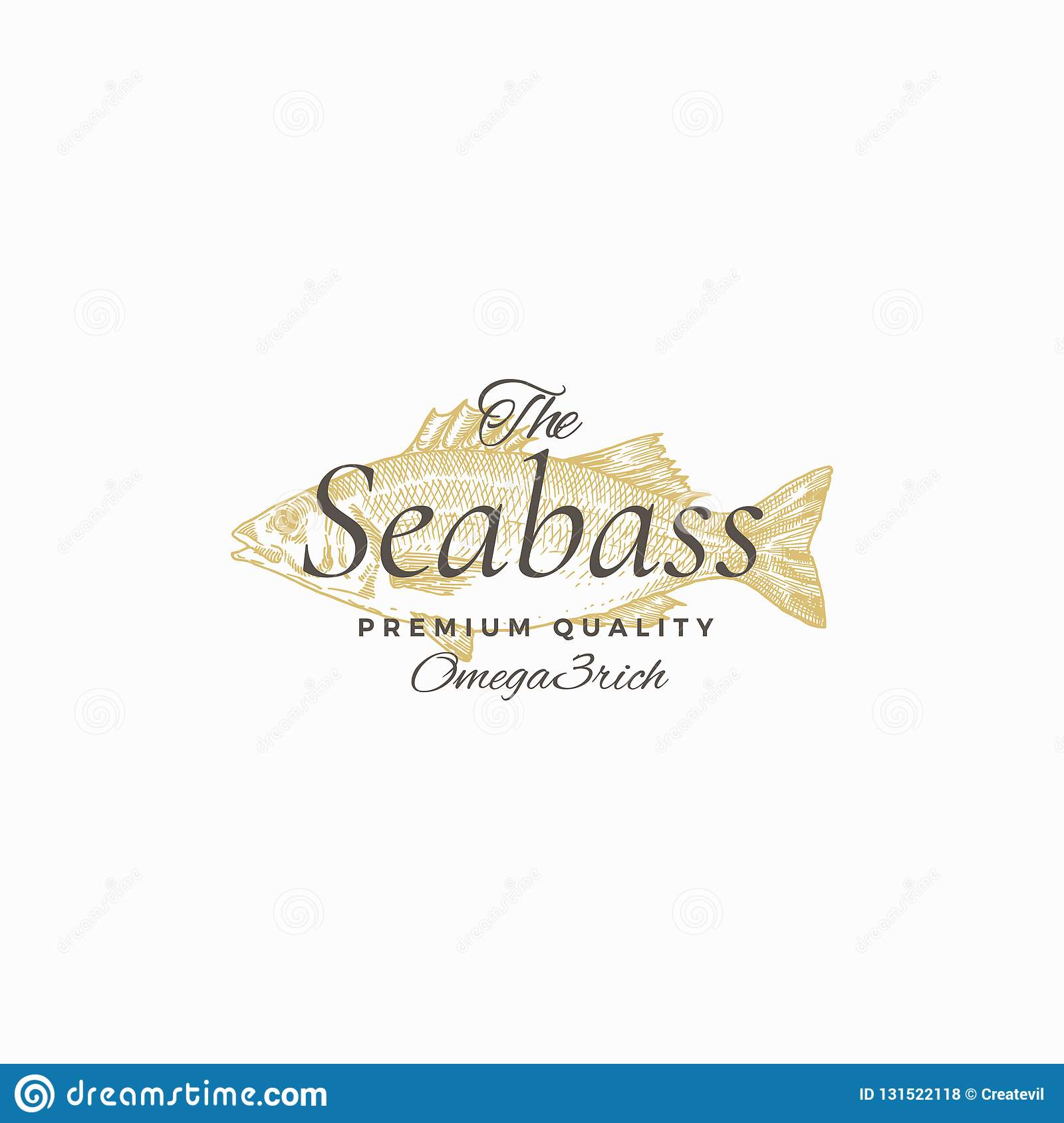 The Best Sea Bass Abstract Vector Sign , Symbol Or Logo