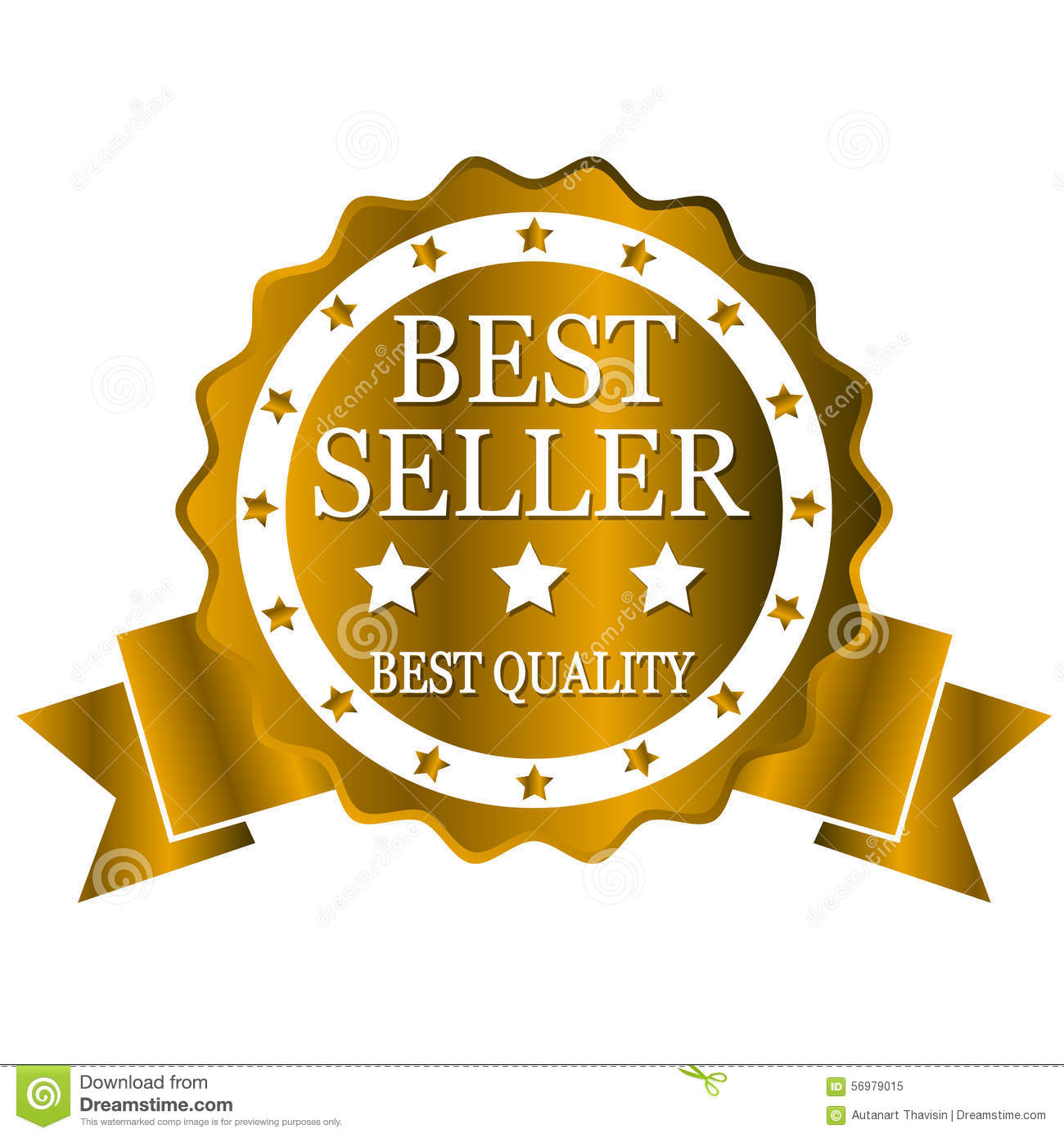 Best Seller Best Quality Stock Vector. Image Of Gold