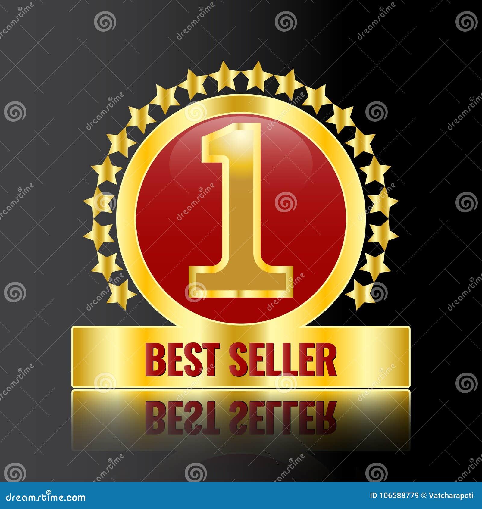 Best Seller Gold Price Tag Stock Vector Illustration Of Seller