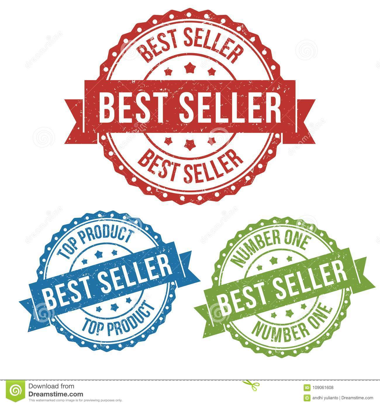Best Seller Top Product Vector Badge Label Stamp Tag For Product