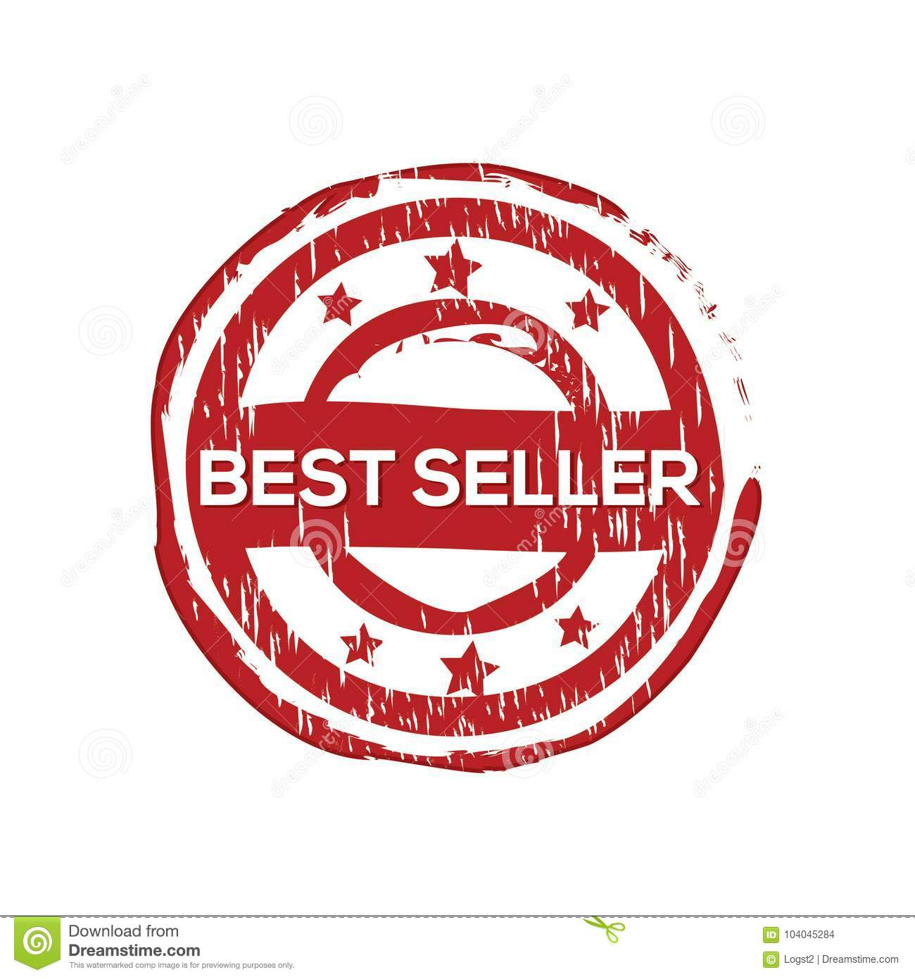 `Best seller` vector rubber stamp
