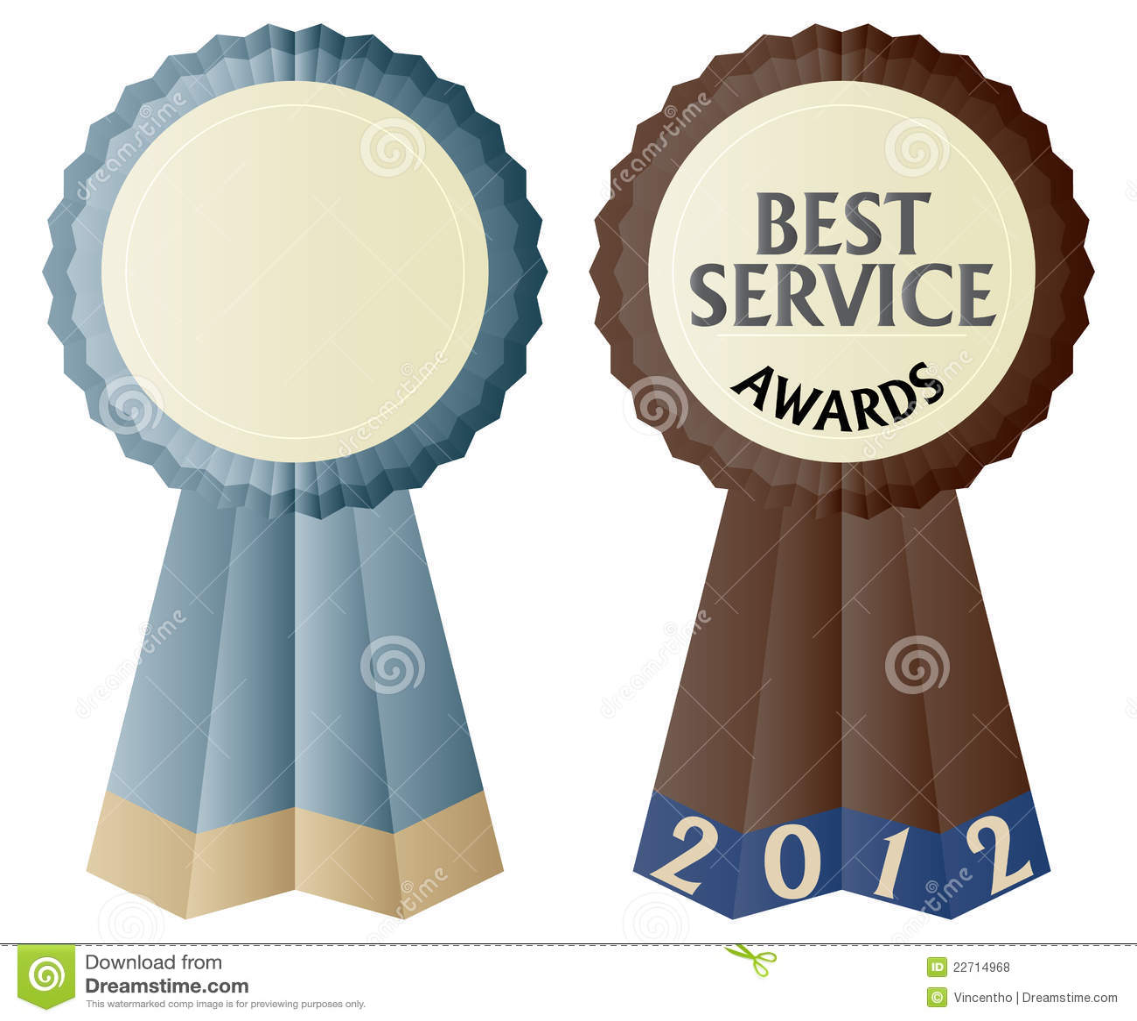 The Best Service Awards Ribbon Illustration Royalty Free ...