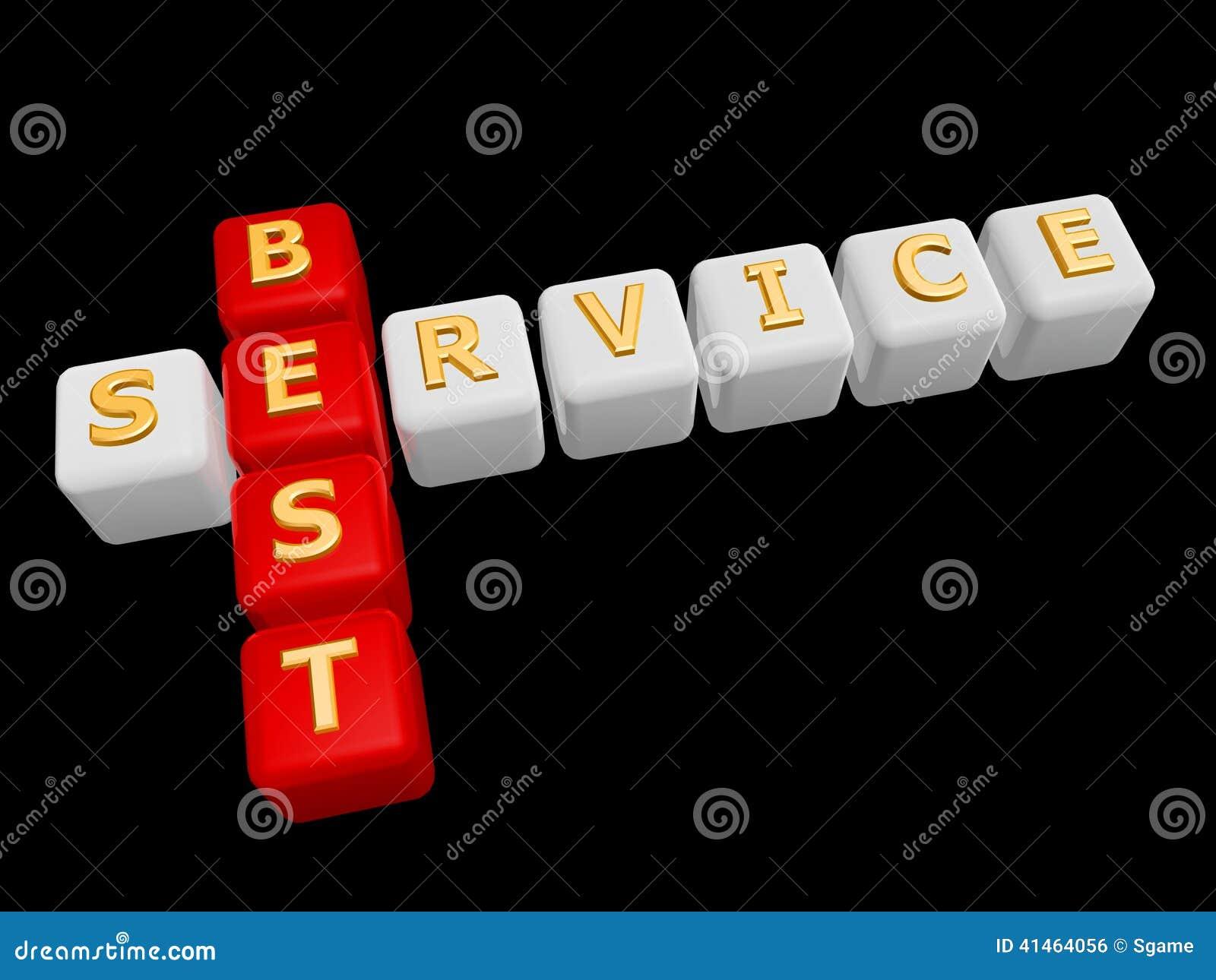Best Service Cross Word Stock Photo  Image Of Brick