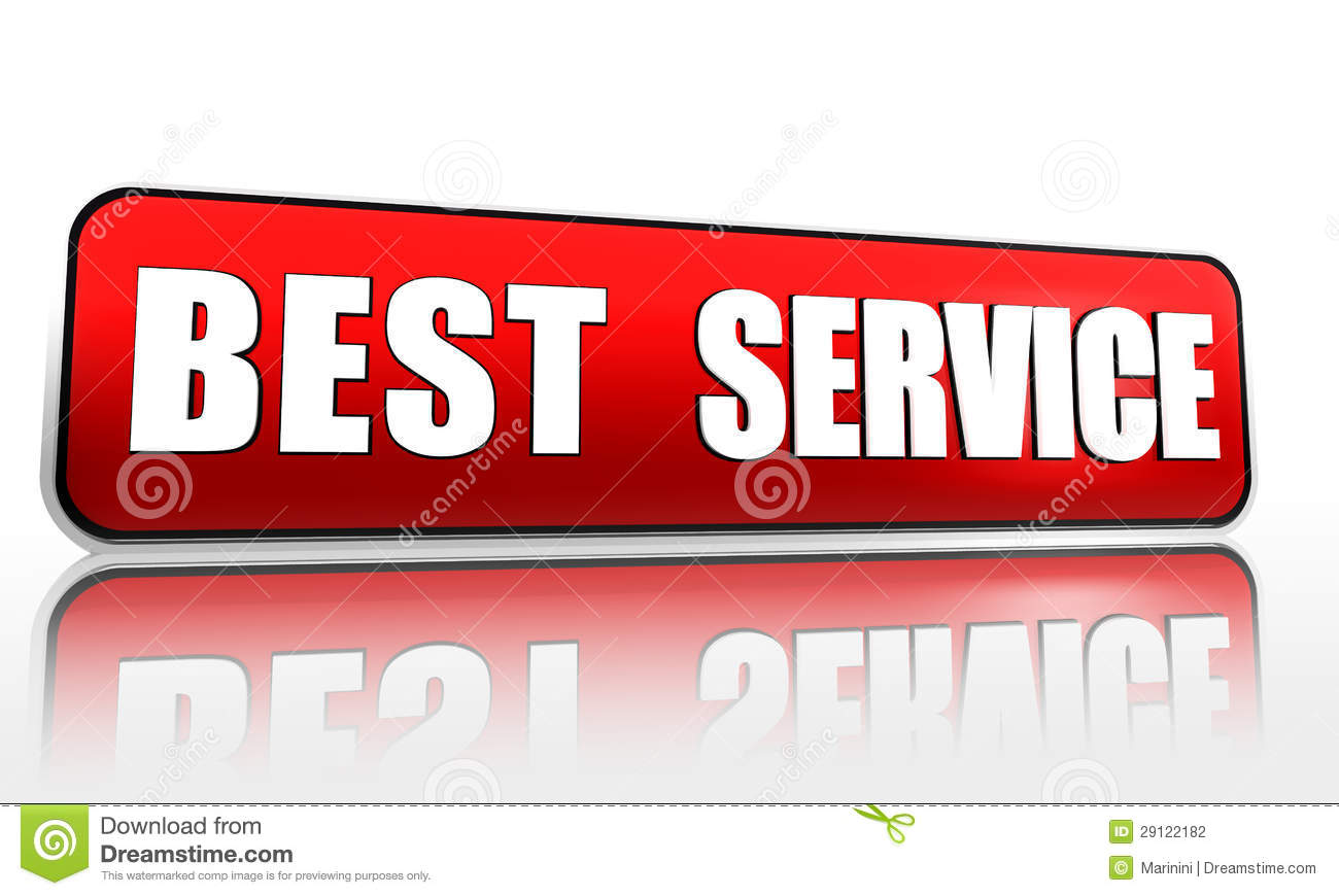 Best service button 3d red banner with white text business concept