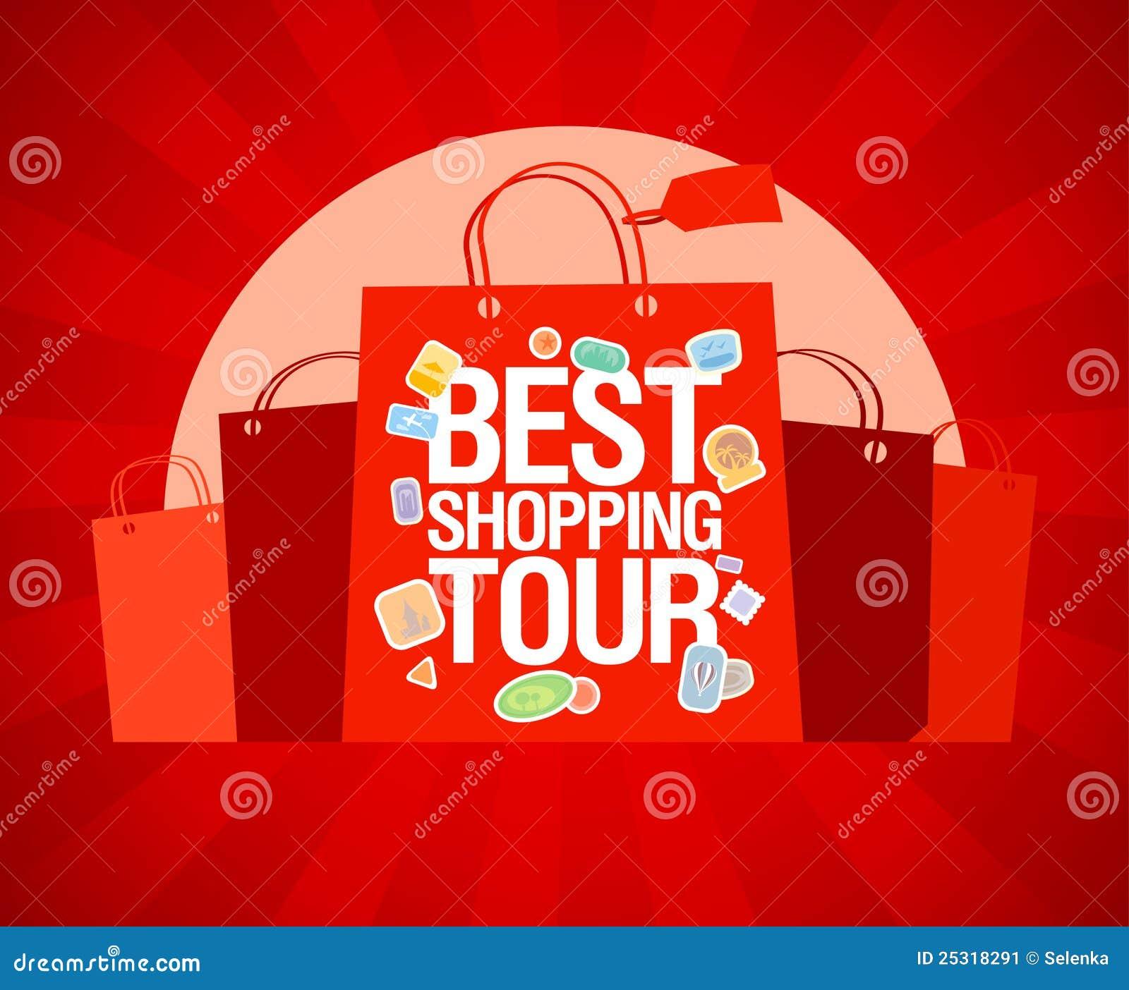 best shopping tour design template  stock vector