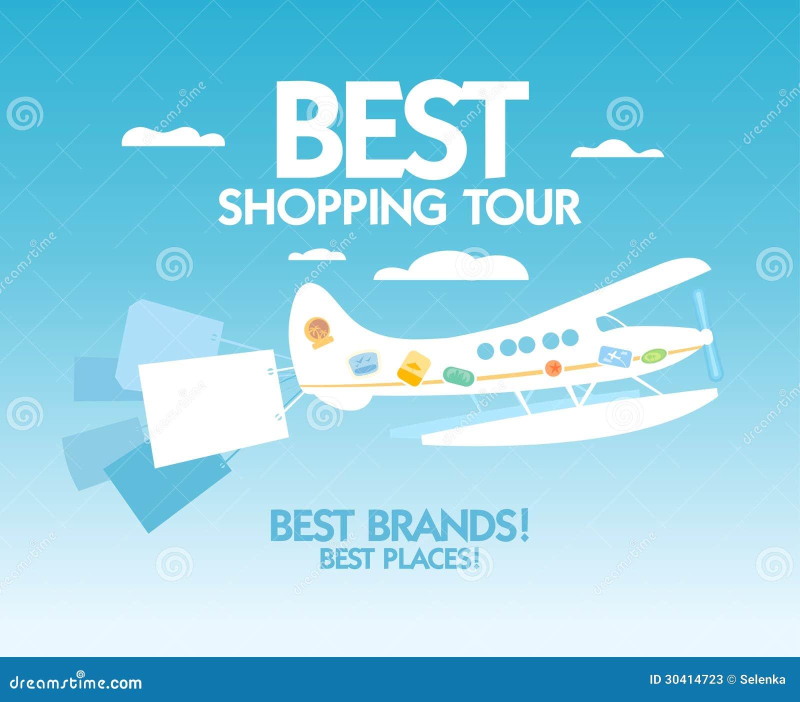 Best shopping tour design template.