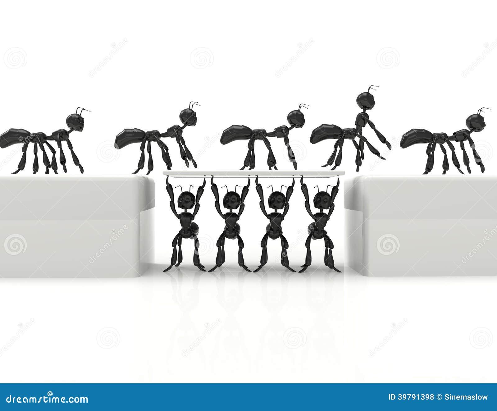 Best Team 3d Cartoon Ants Stock Illustration Image 39791398