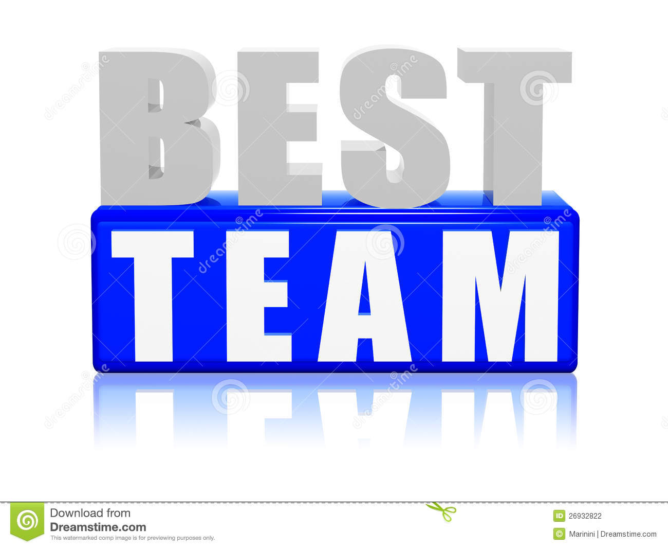 Best Team - Letters And Block Stock Photography - Image: 26932822