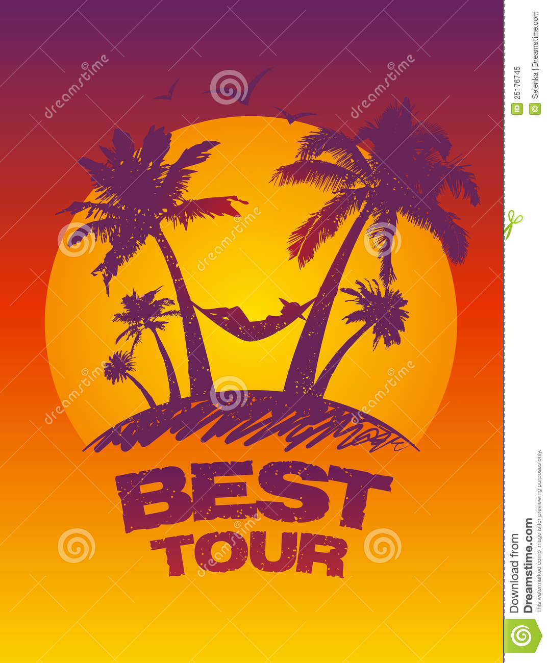 best tour design template royalty free stock photo