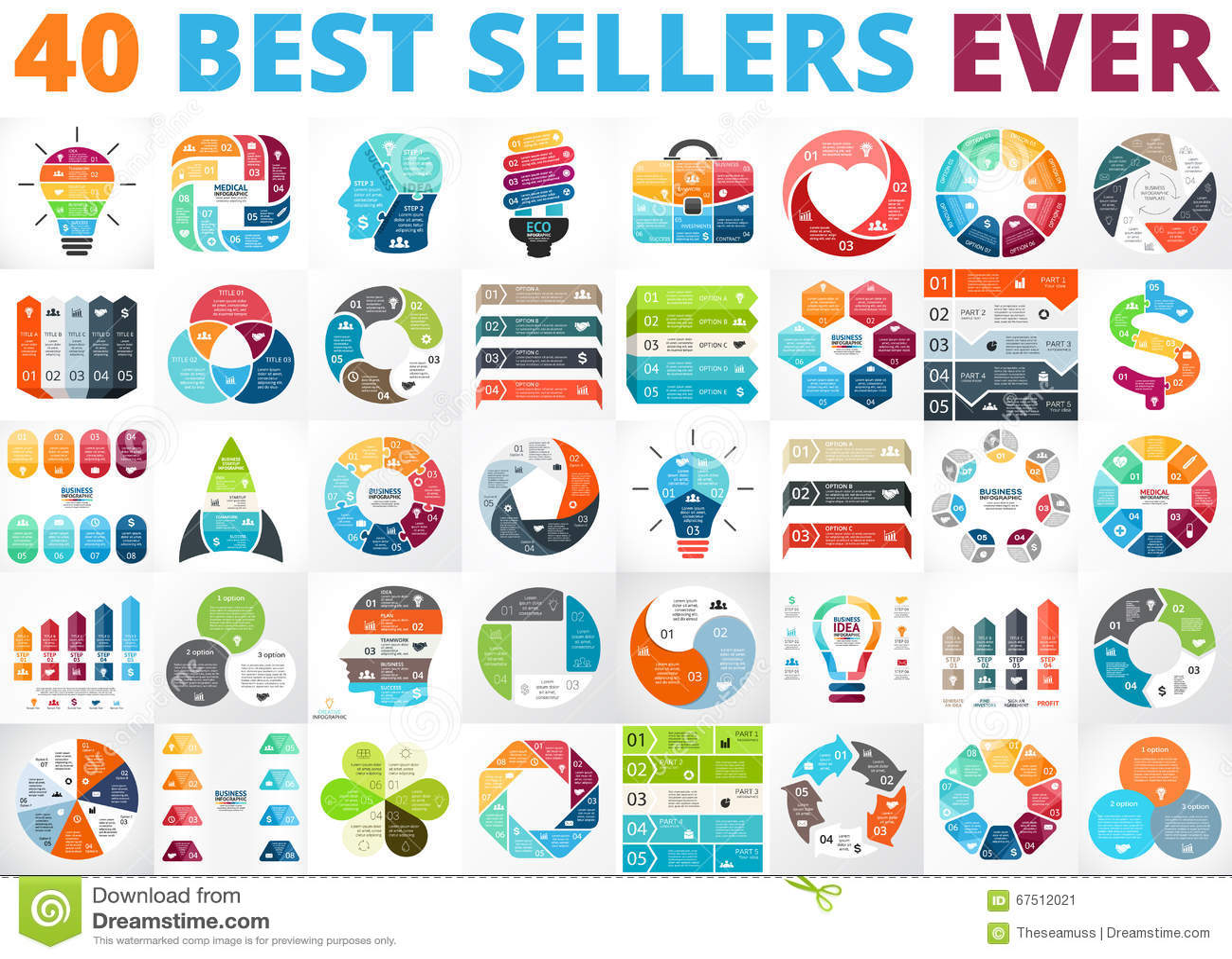 Best Vector Circle Infographics Set. Business Diagrams, Arrows ...