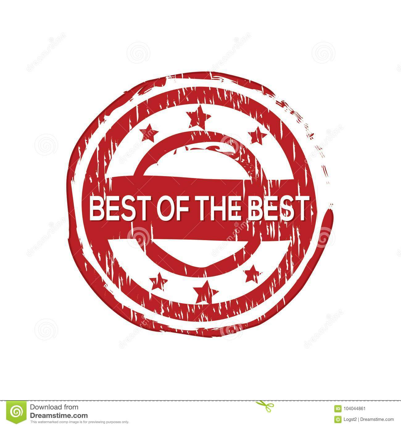 `Best of the best` vector rubber stamp