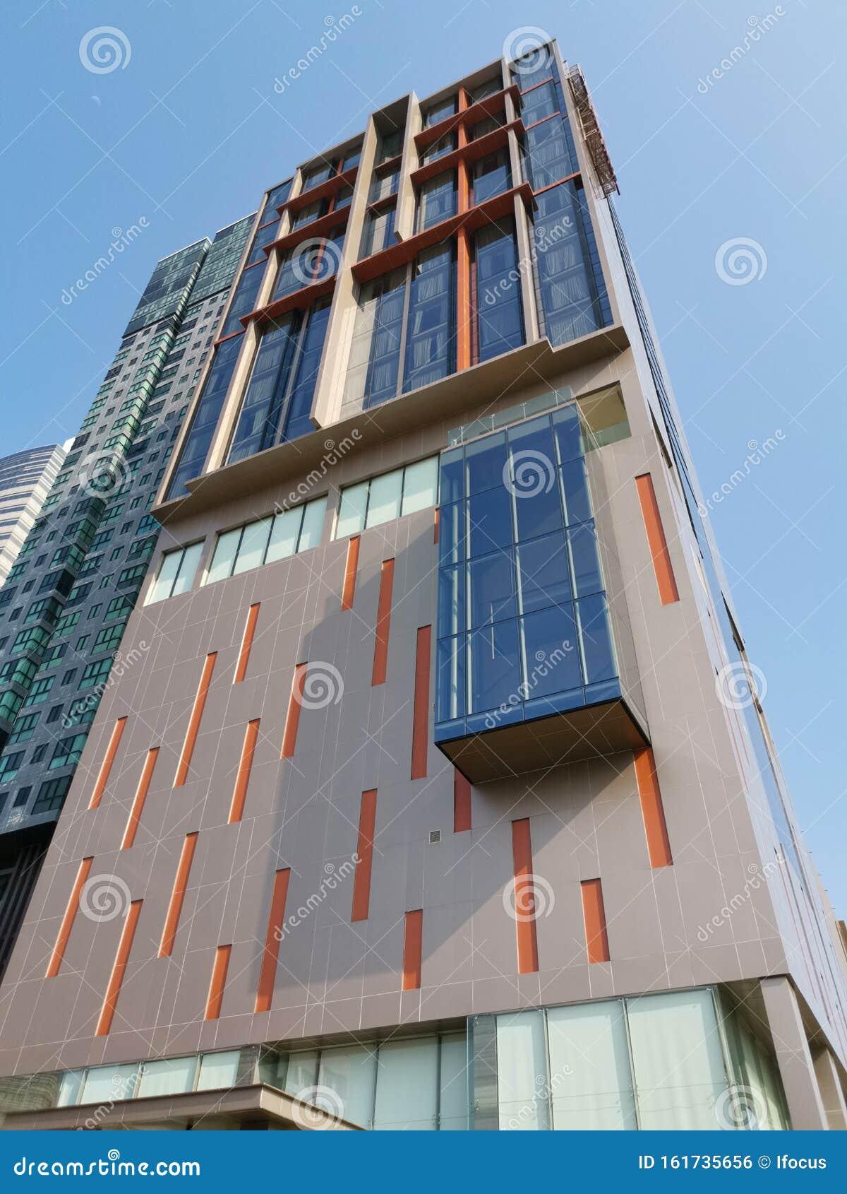 Best Western Plus Wanda Grand Hotel Soars Into Blue Sky Editorial Photo Image Of High Pakkret 161735656