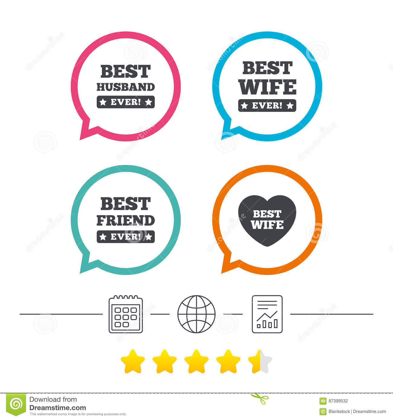 Best Husband And Wife: Best Husband Ever Sign Icon. Award Symbol. Vector