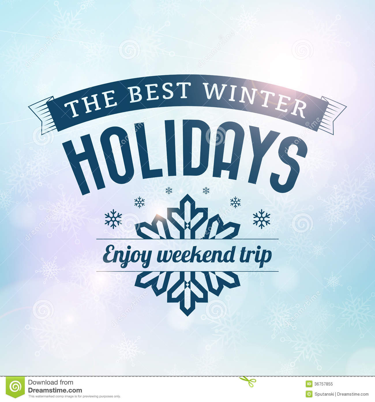 Download Best Winter Holidays Trip Poster Stock Vector