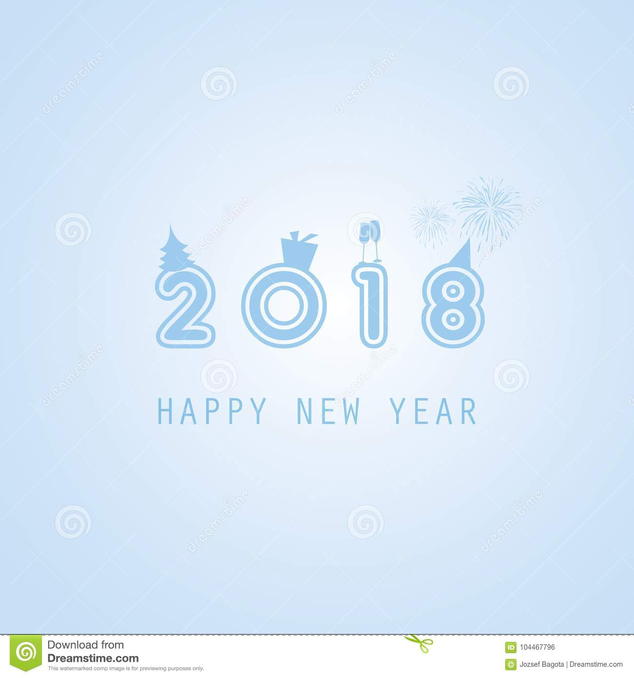 download best wishes abstract colorful modern styled new year card cover or background design