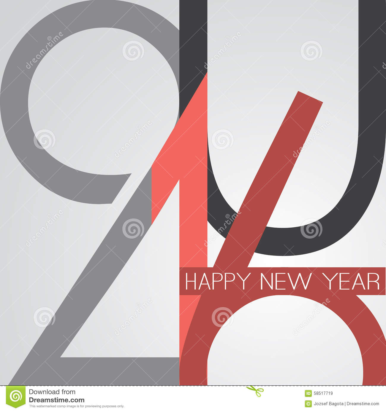 best wishes abstract retro style happy new year greeting card or background creative design