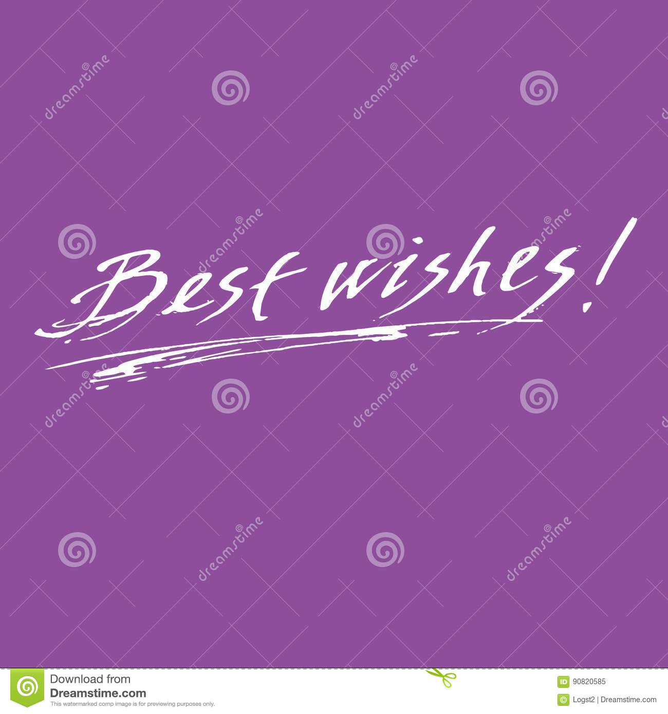 Best wishes calligraphic inscription vector