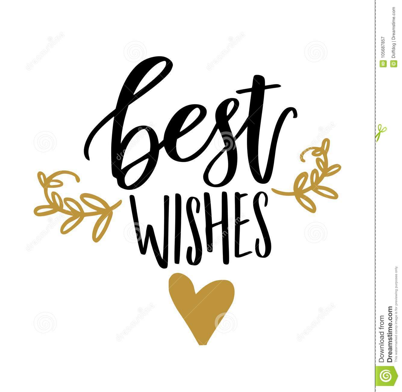 best wishes calligraphy stock vector illustration of banner 105687857