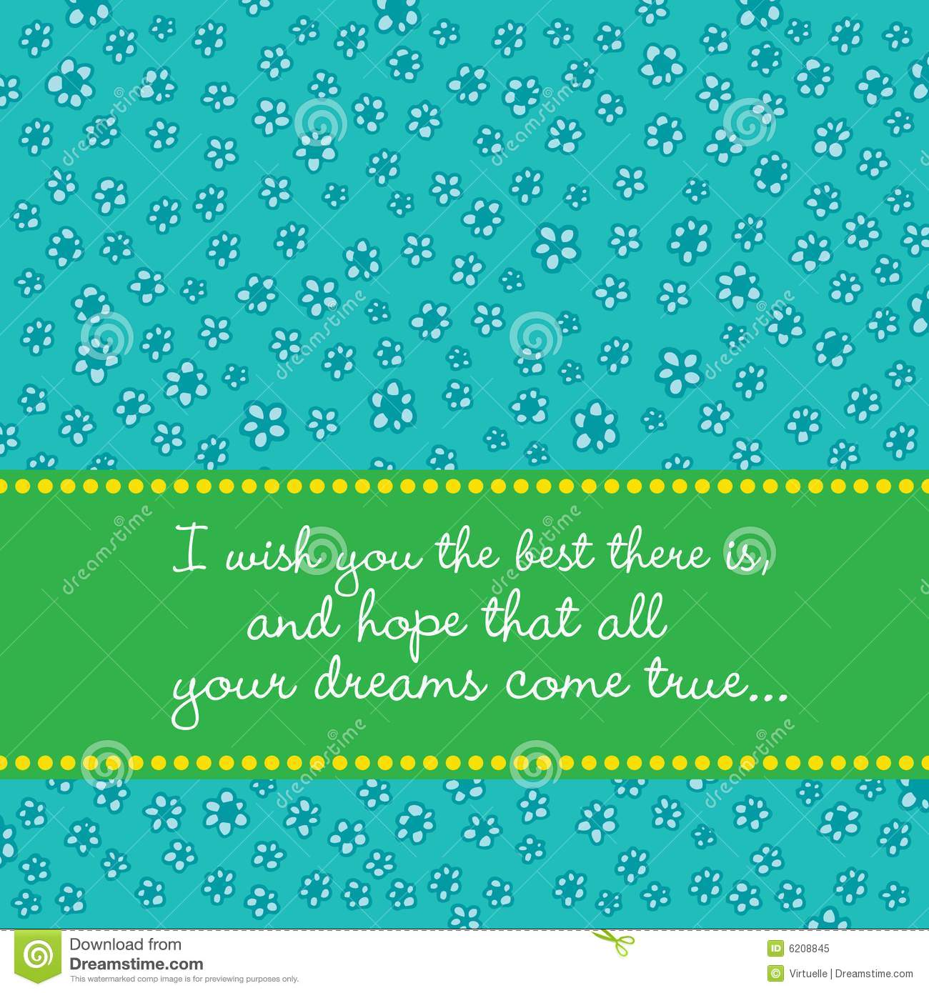 Best Wishes Card With Retro Flower Background Royalty Free Stock Photo - Image: 6208845