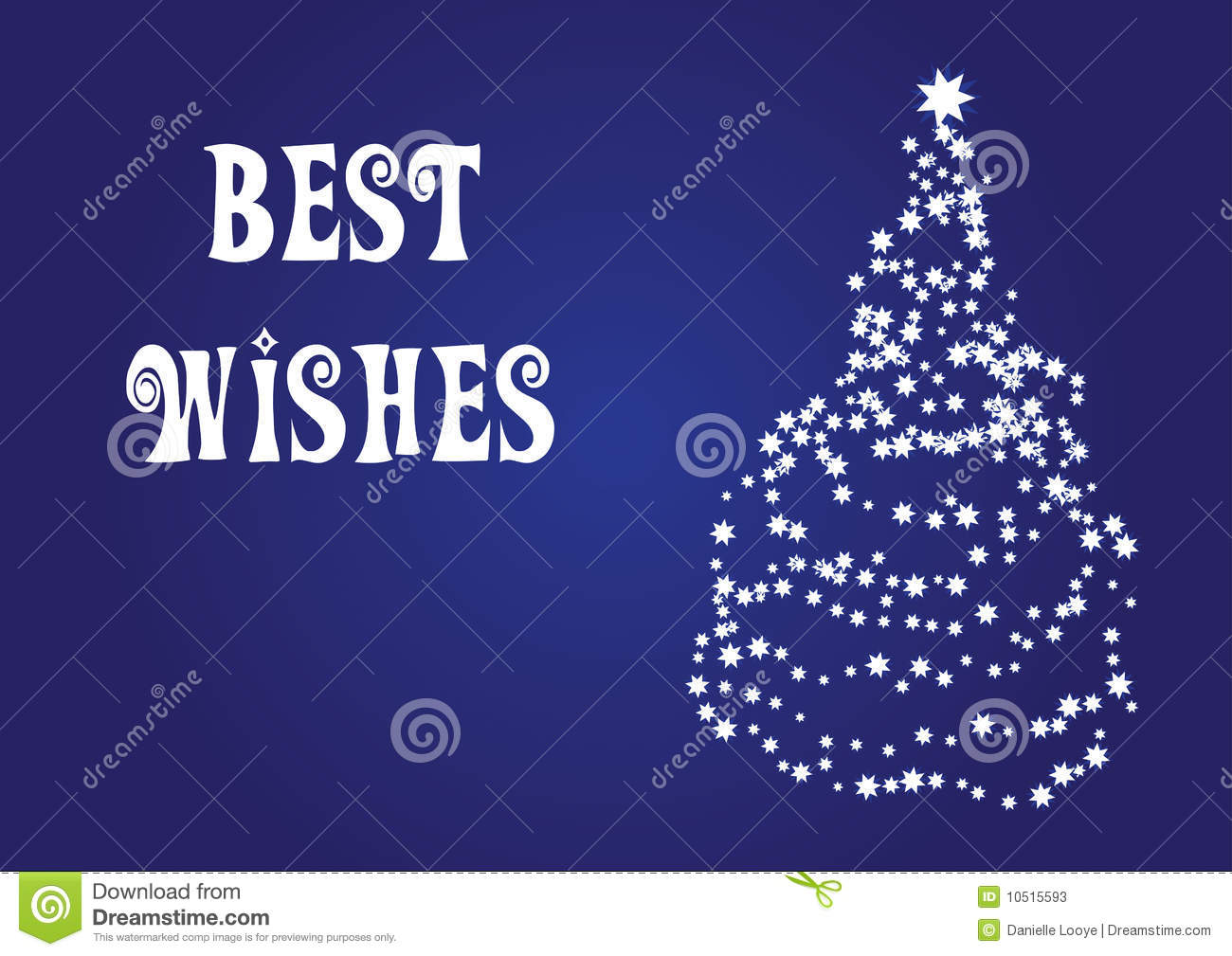 Best Wishes, Christmas Vector Card Stock Vector - Illustration of ...