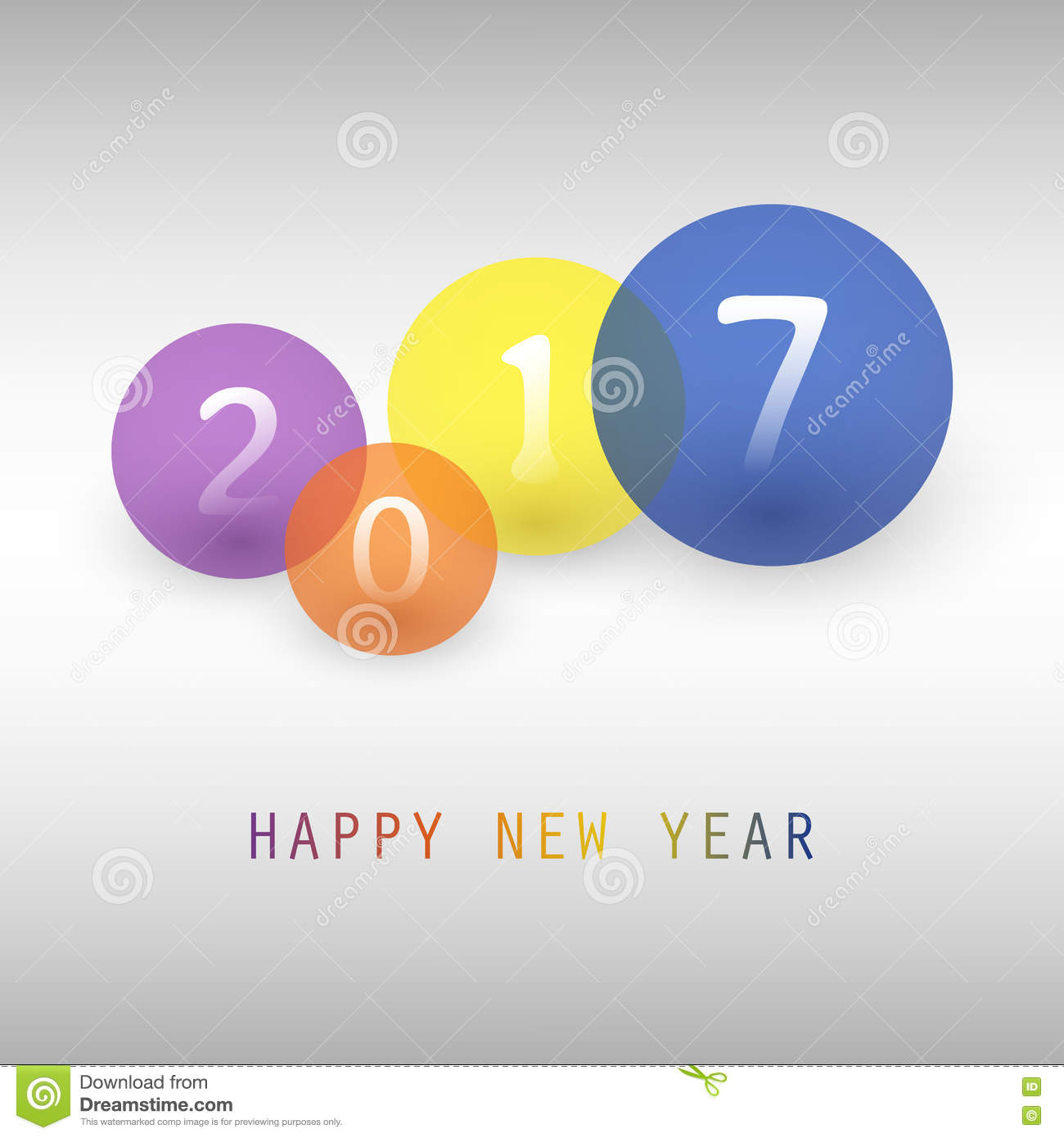 Best Wishes - Colorful Abstract Modern Style Happy New ...