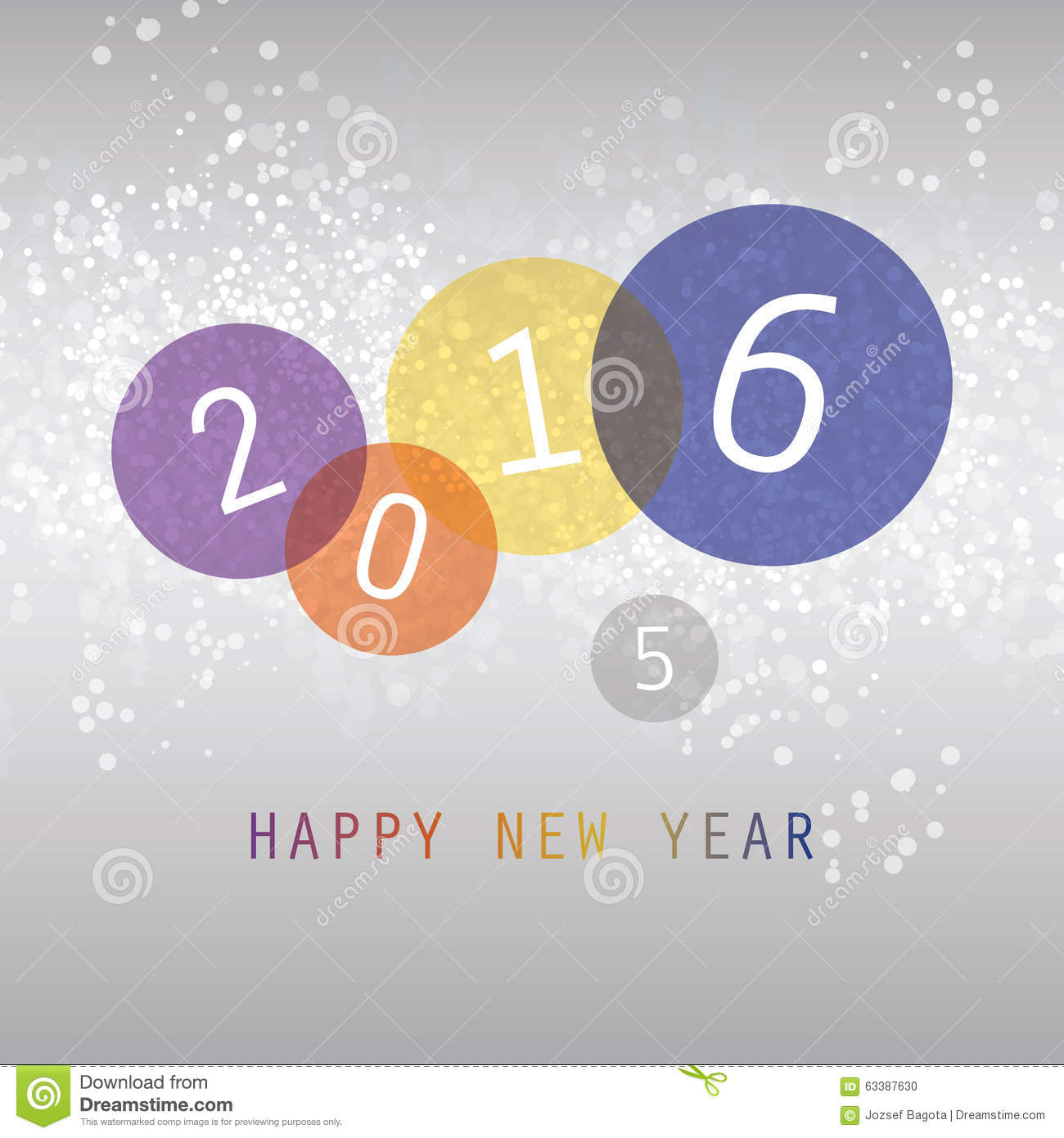 best wishes colorful abstract modern style happy new year greeting card cover or background