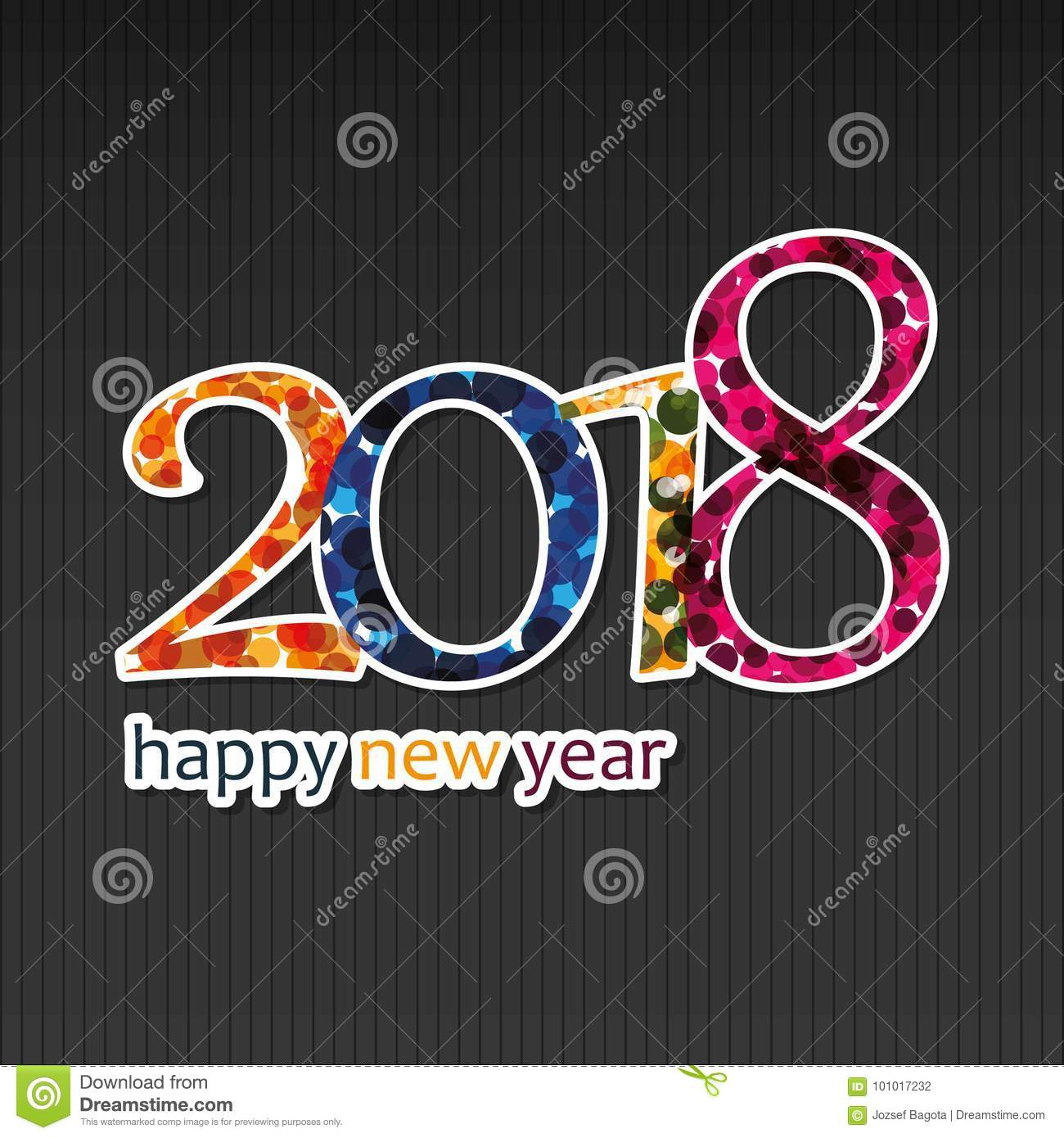 best wishes happy new year greeting card or background creative design template 2018