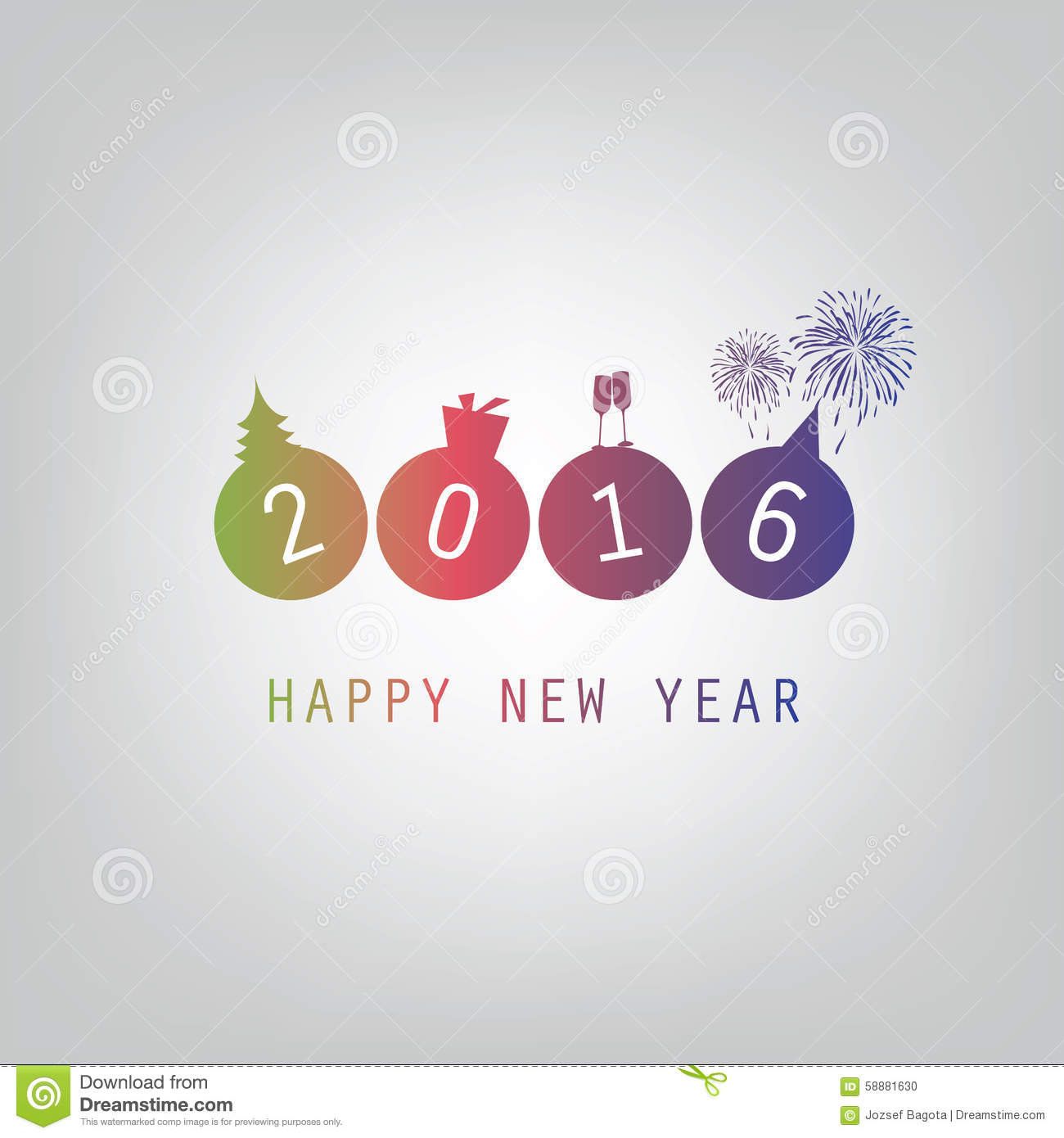 best wishes modern simple minimal happy new year card or cover