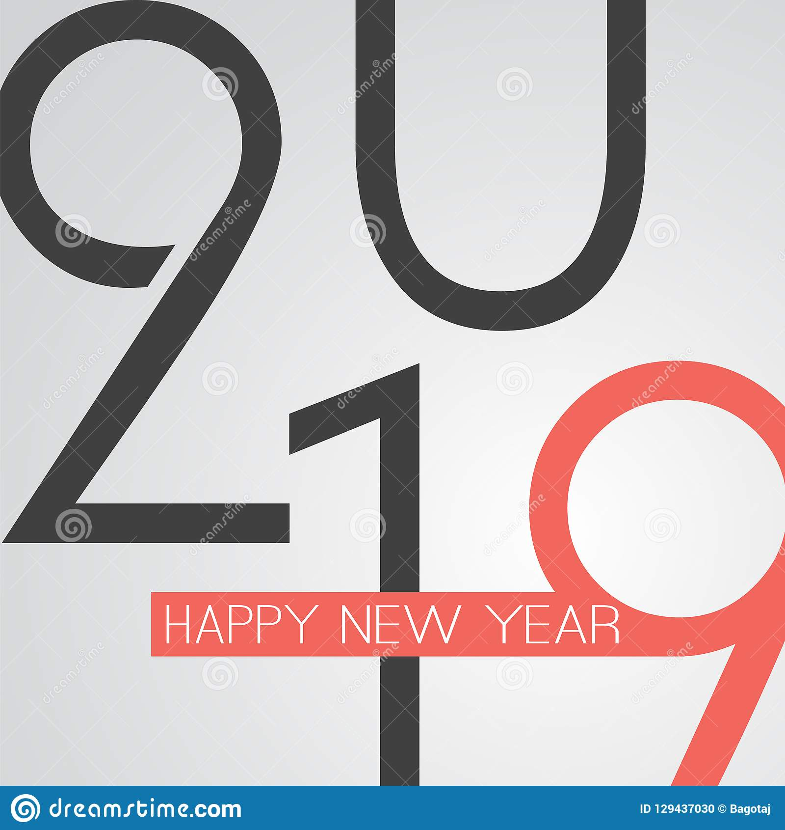 best wishes retro style happy new year greeting card or background creative design template