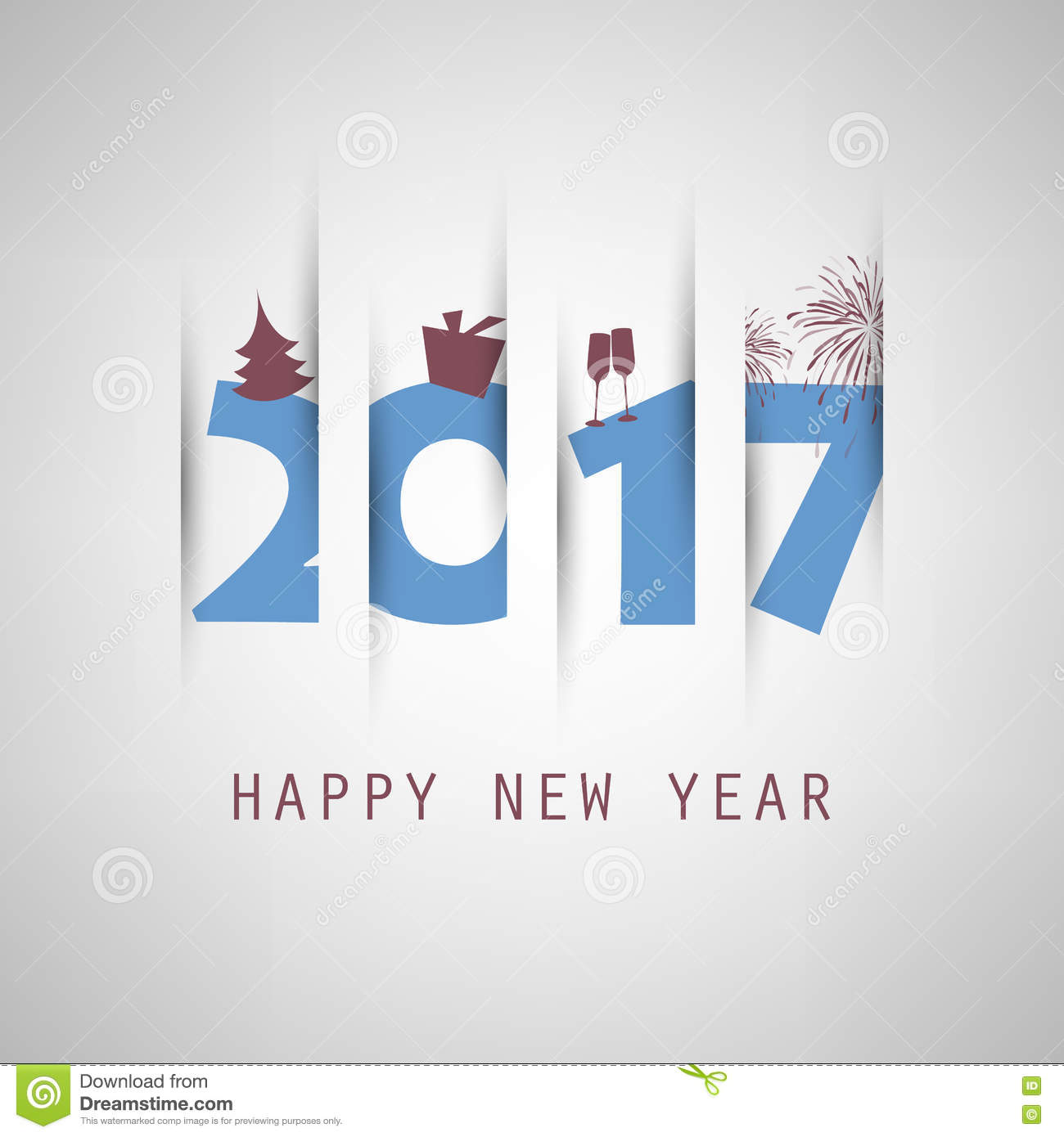best wishes simple blue new year card cover or background creative design template with