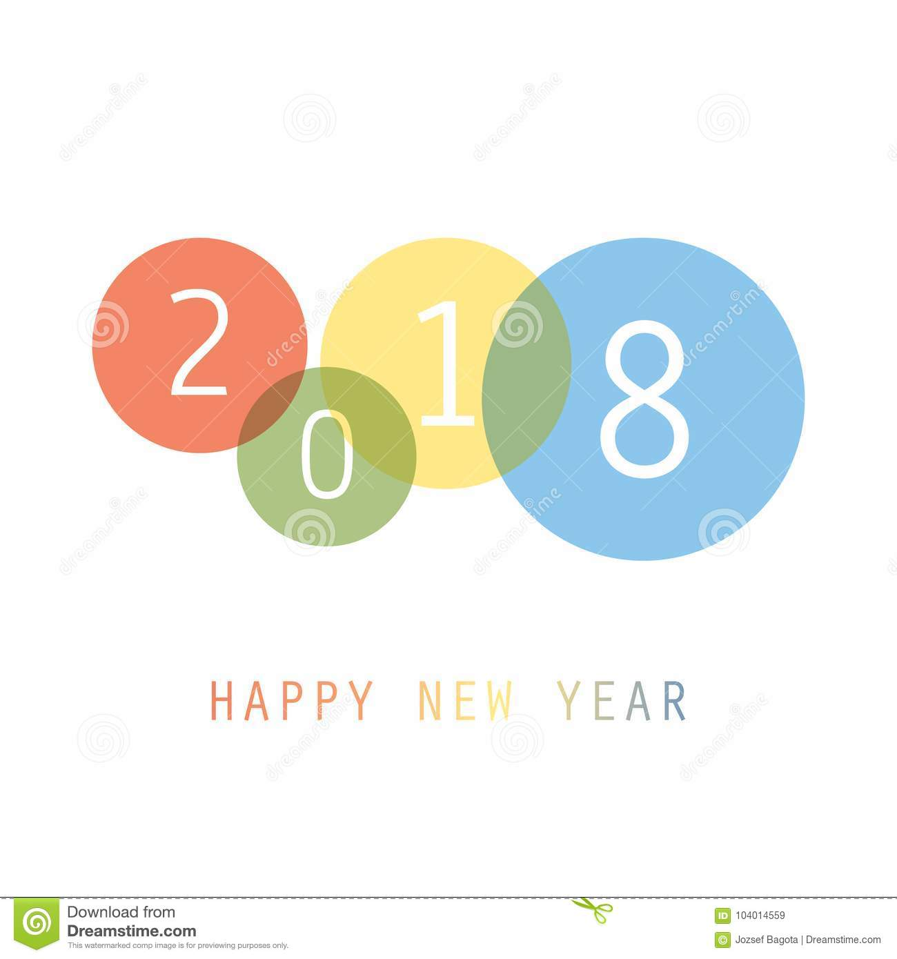 Best Wishes - Simple Colorful New Year Card, Cover Or Background ...