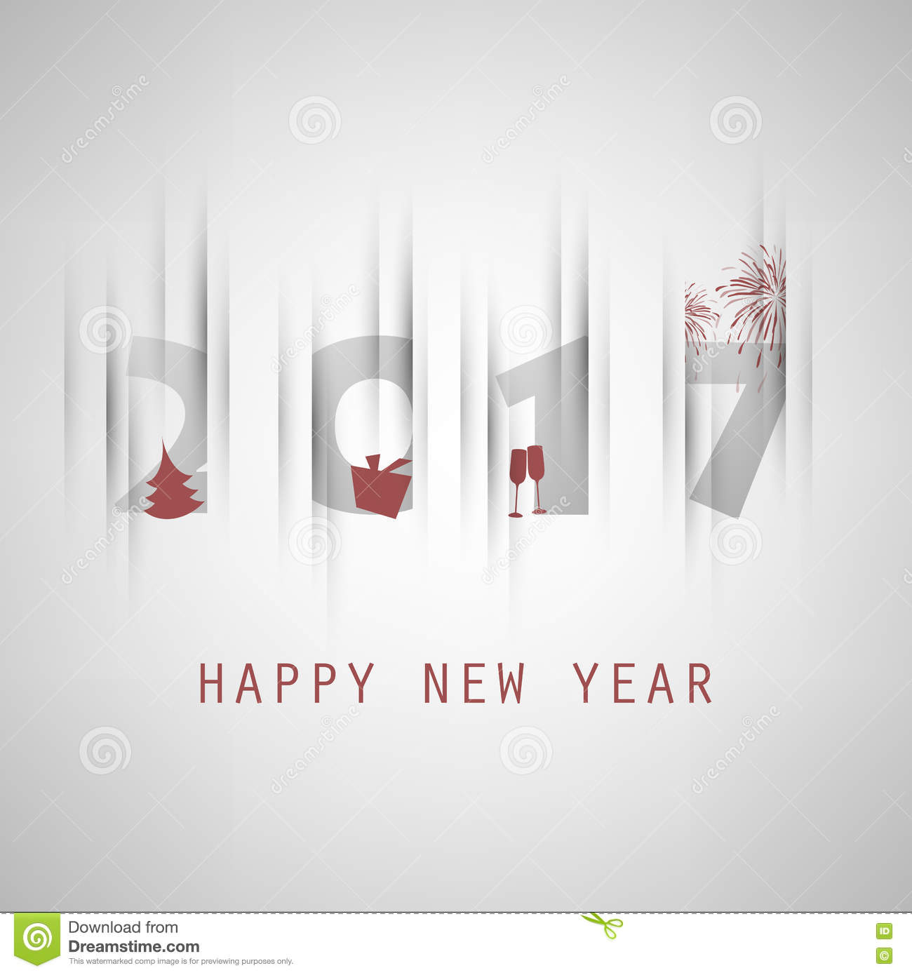 Best Wishes - Simple Colorful New Year Card, Cover Or ...