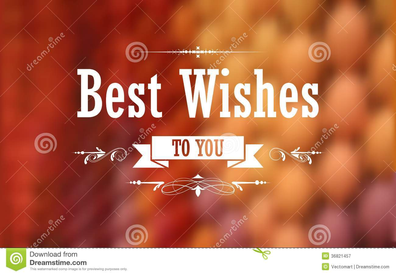Best Wishes Typography Background Royalty Free Stock