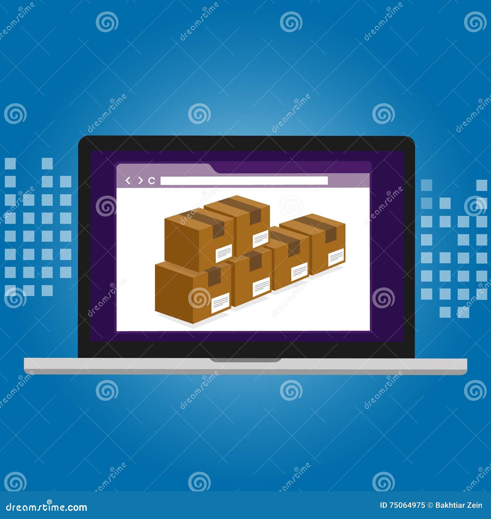 Bestandsmanagementlogistiksystemlager-Technologiekasten innerhalb der Computer-Software