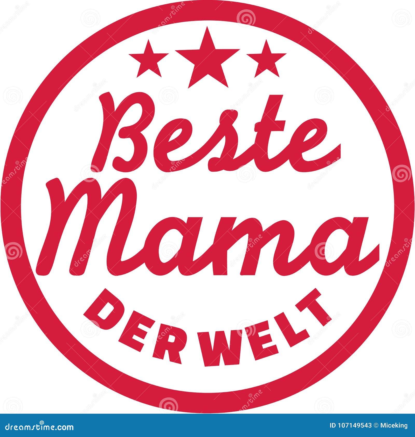Beste Mutter Des Weltdeutschen Stock Abbildung Illustration Von