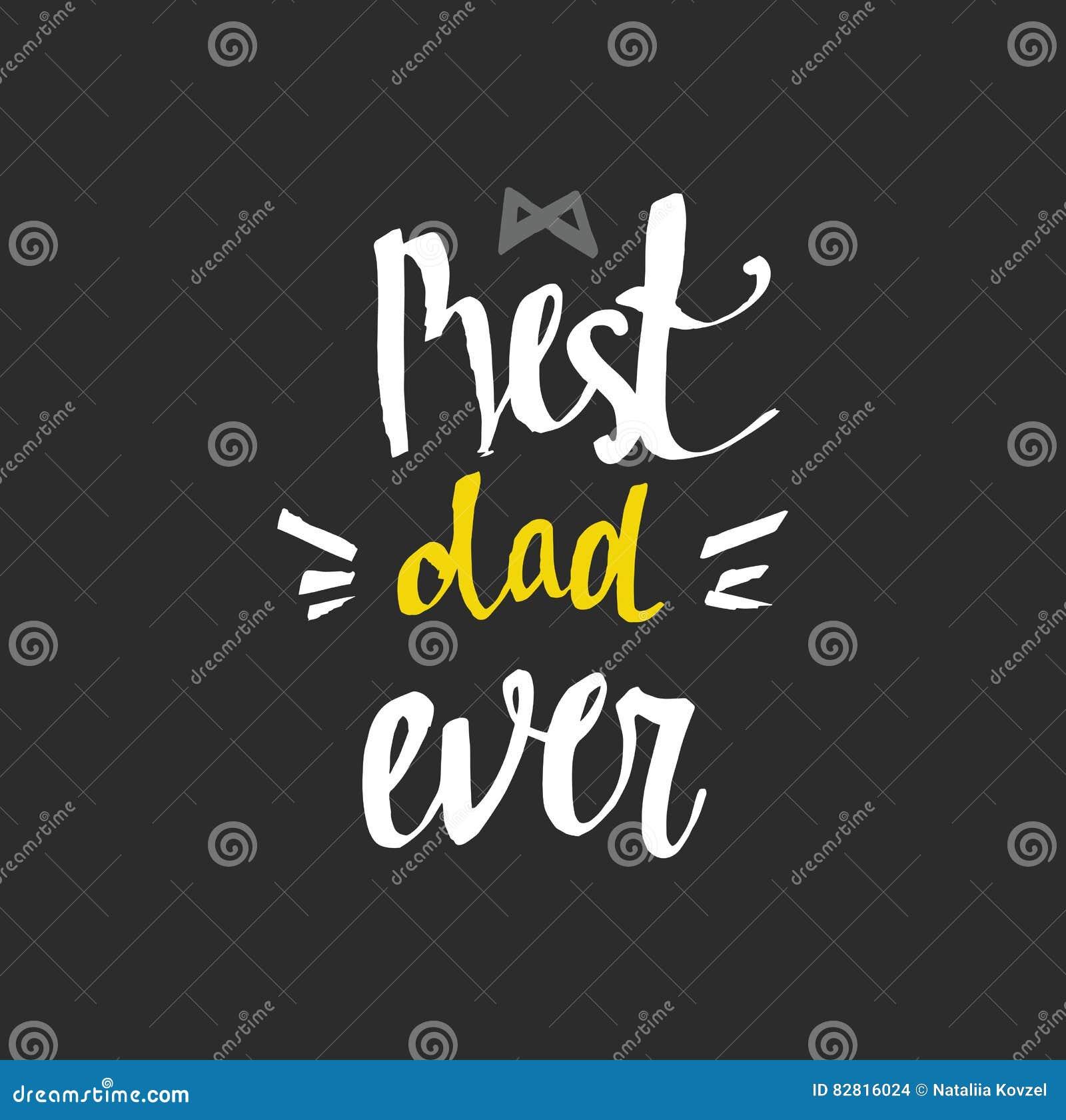 Beste papa ooit - uniek hand het van letters voorzien ontwerp voor vader` s dag
