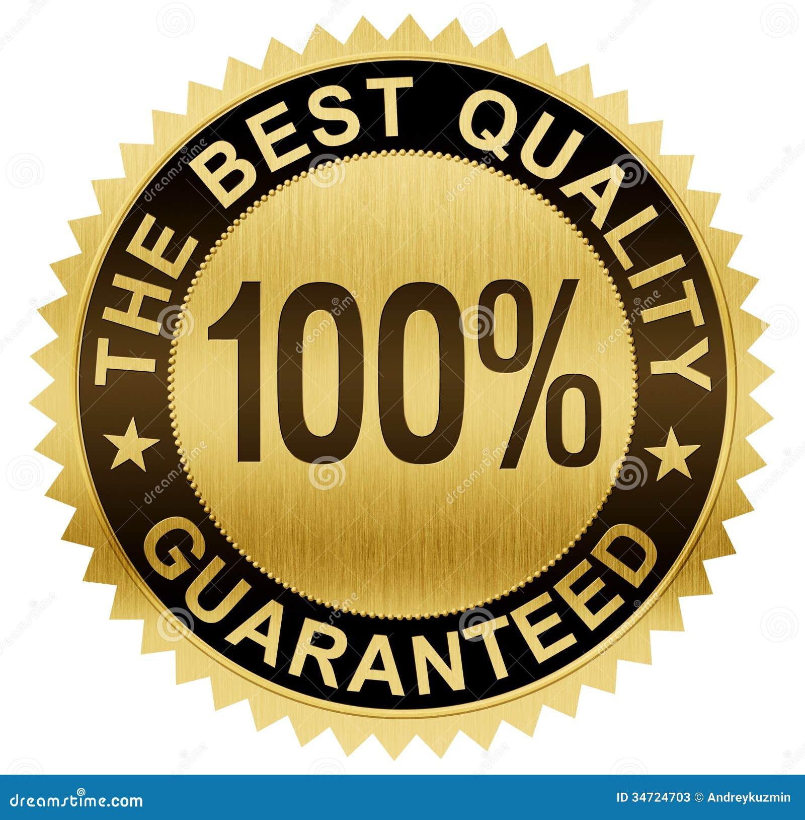 beste qualit t garantierte golddichtungsmedaille mit beschneidungspfad stock abbildung bild. Black Bedroom Furniture Sets. Home Design Ideas