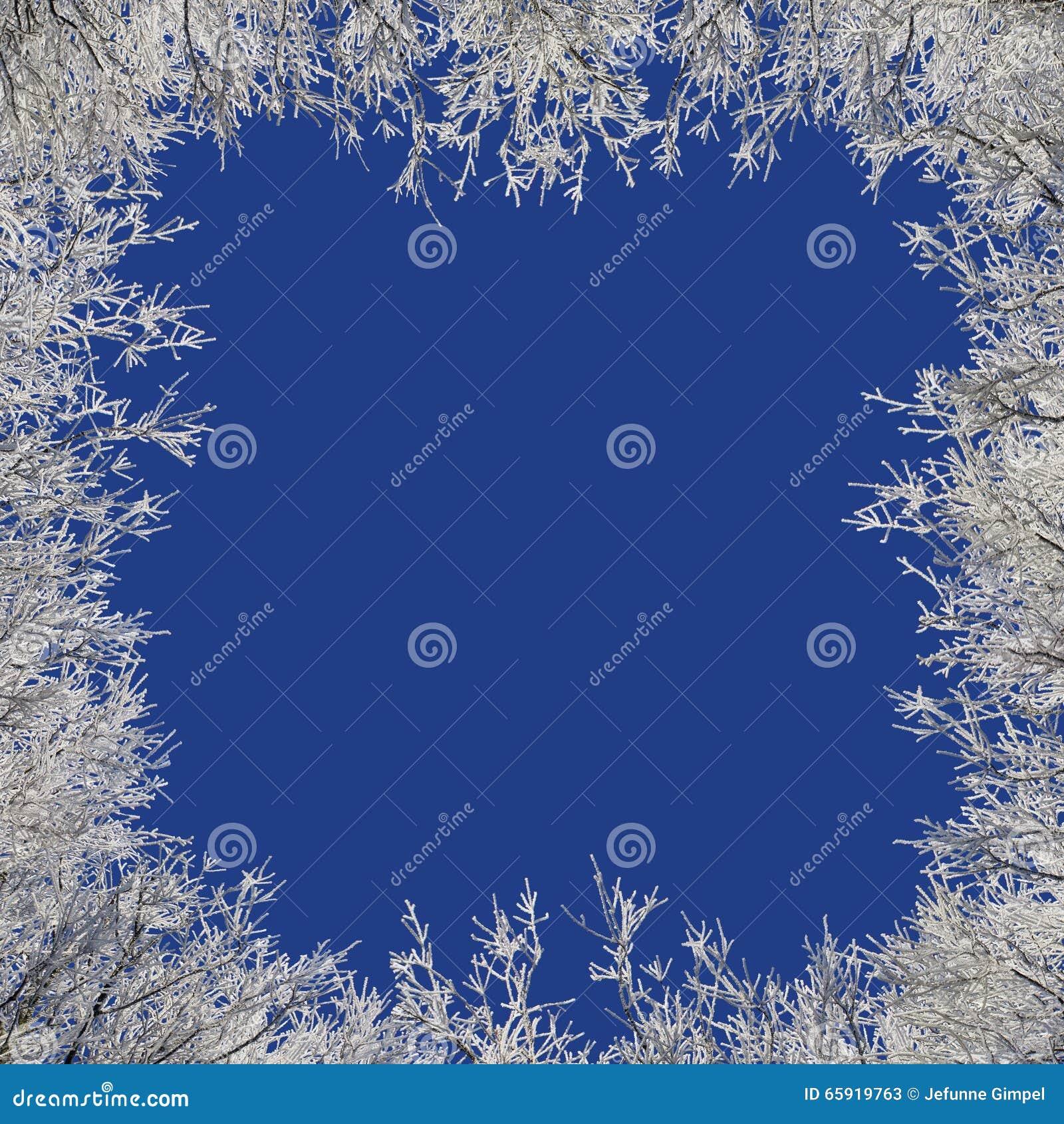 Besteht der Beschaffenheit des Schnees in der Mitte und aus den Rändern der Eismuster