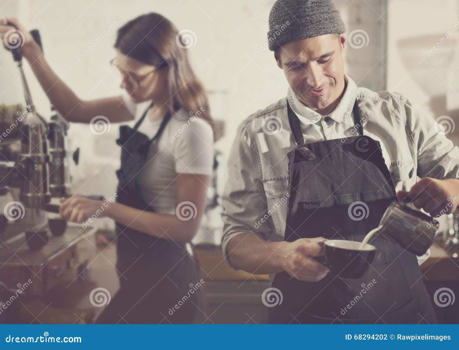 Bestellungs-Konzept Barista Parepare Coffee Working